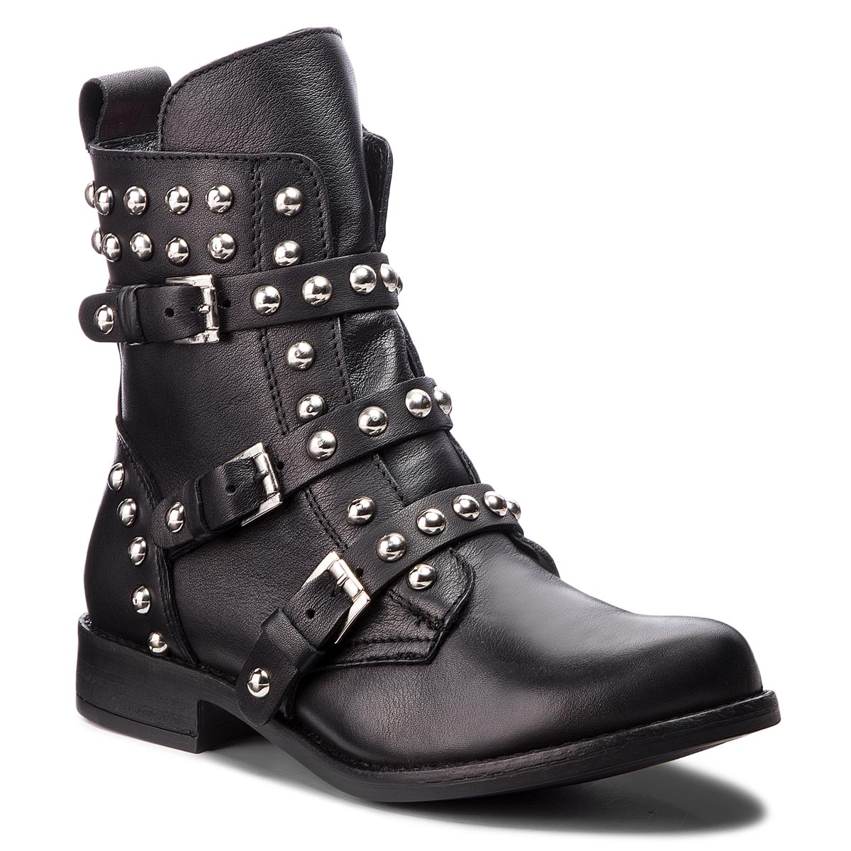 Botine STEVE MADDEN - Spunky Bikerboot SM11000099-03001-017 Black Leather
