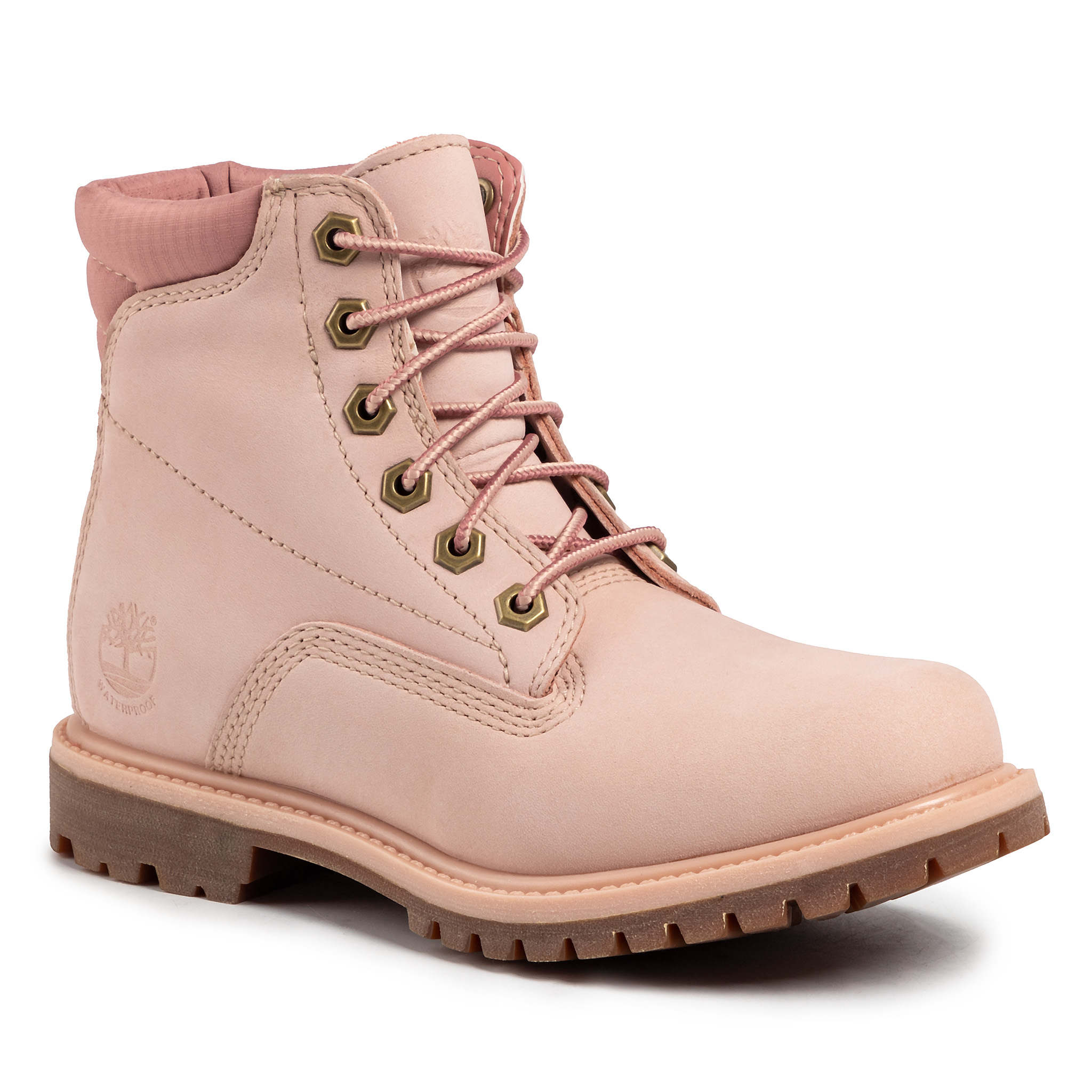 Trappers TIMBERLAND - Waterville 6 in Waterproof Boot TB0A1QT5662 Light Pink Nubuck