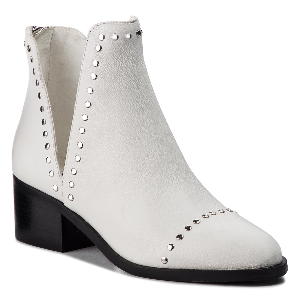 Botine STEVE MADDEN - Conspire Ankleboot SM11000064-03001-107 White Leather