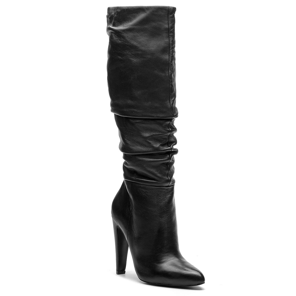 Cizme STEVE MADDEN - Carrie Boot SM11000130-03001-017 Black Leather