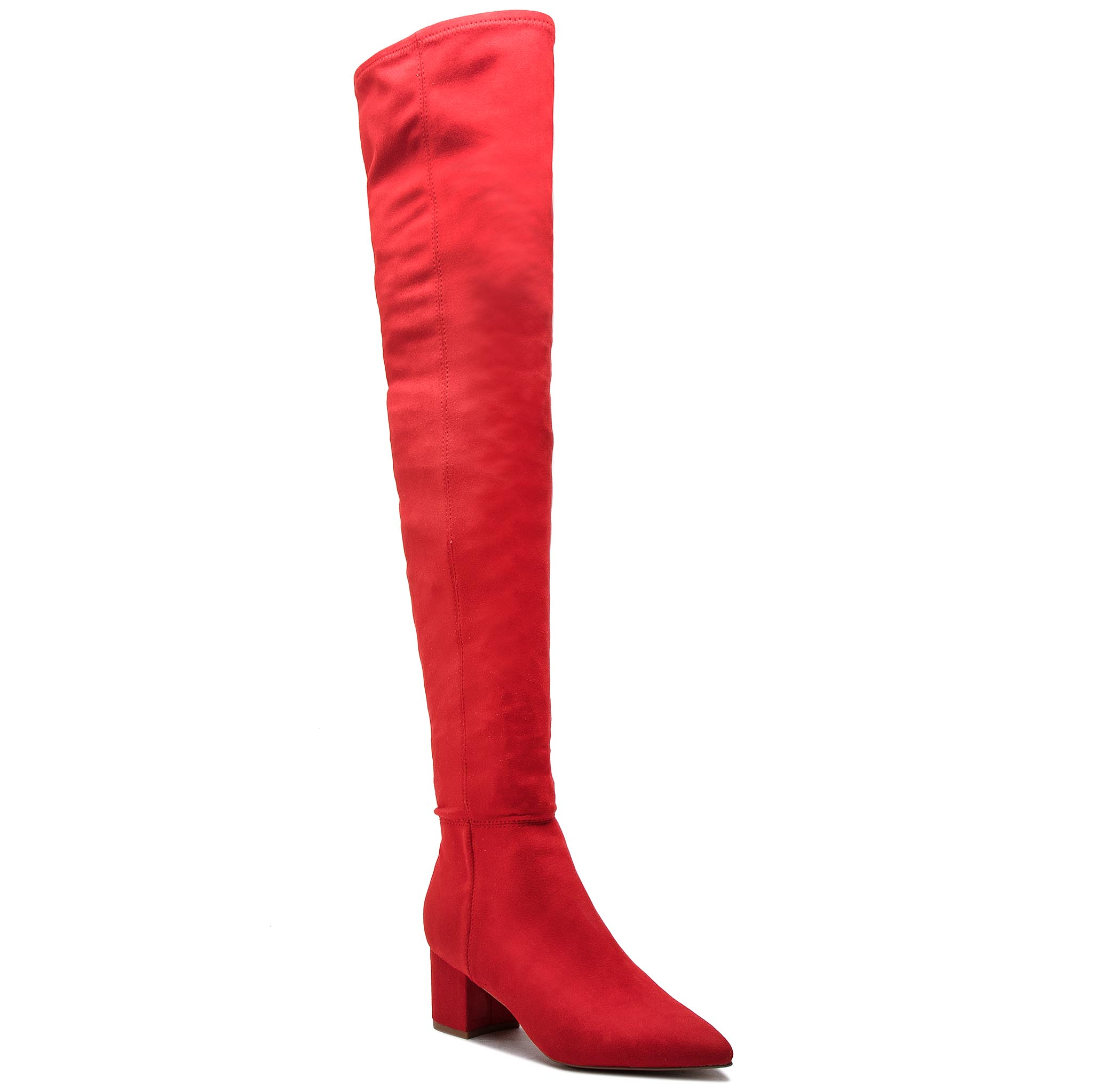 Cizme lungi muschetar STEVE MADDEN - Bolted Boot SM11000229-04001-009 Red