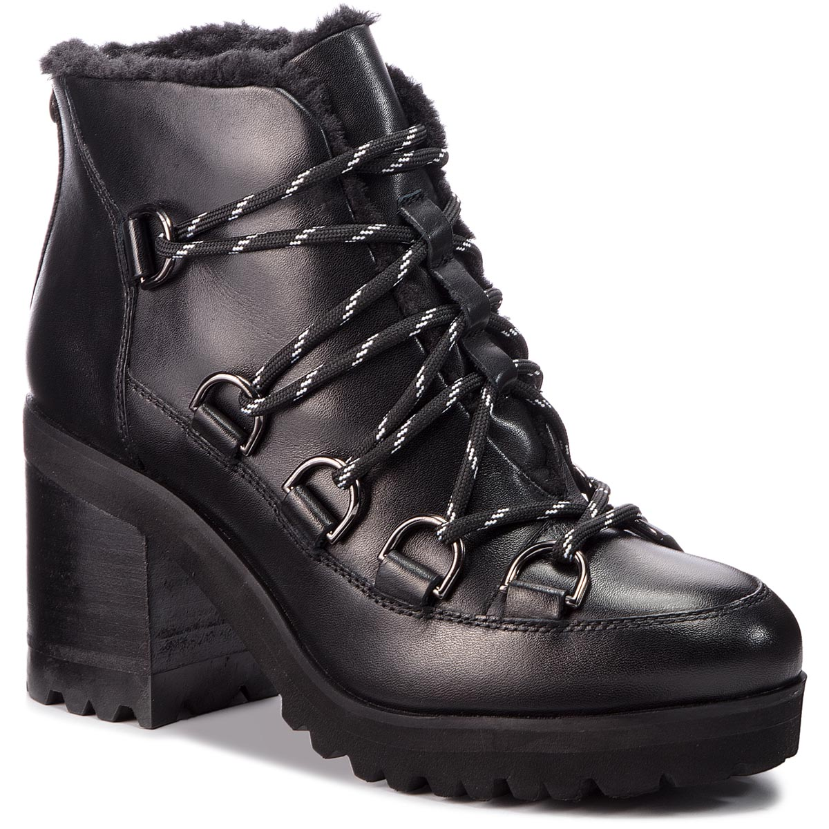Botine STEVE MADDEN - Zana Biker Boot SM11000236-03001-017 Black Leather