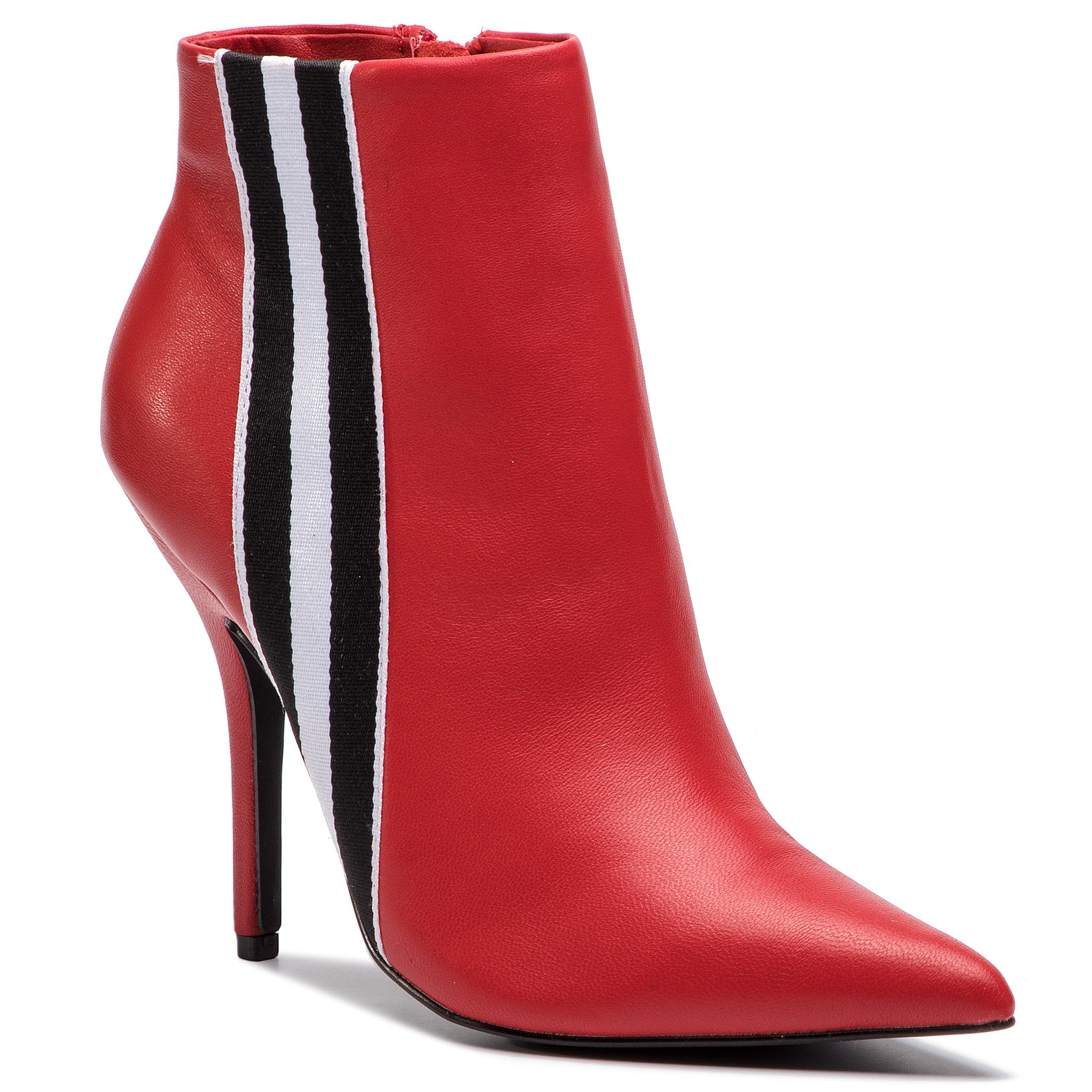 Botine STEVE MADDEN - Knock Bootie SM11000340-03001-607 Red Leather