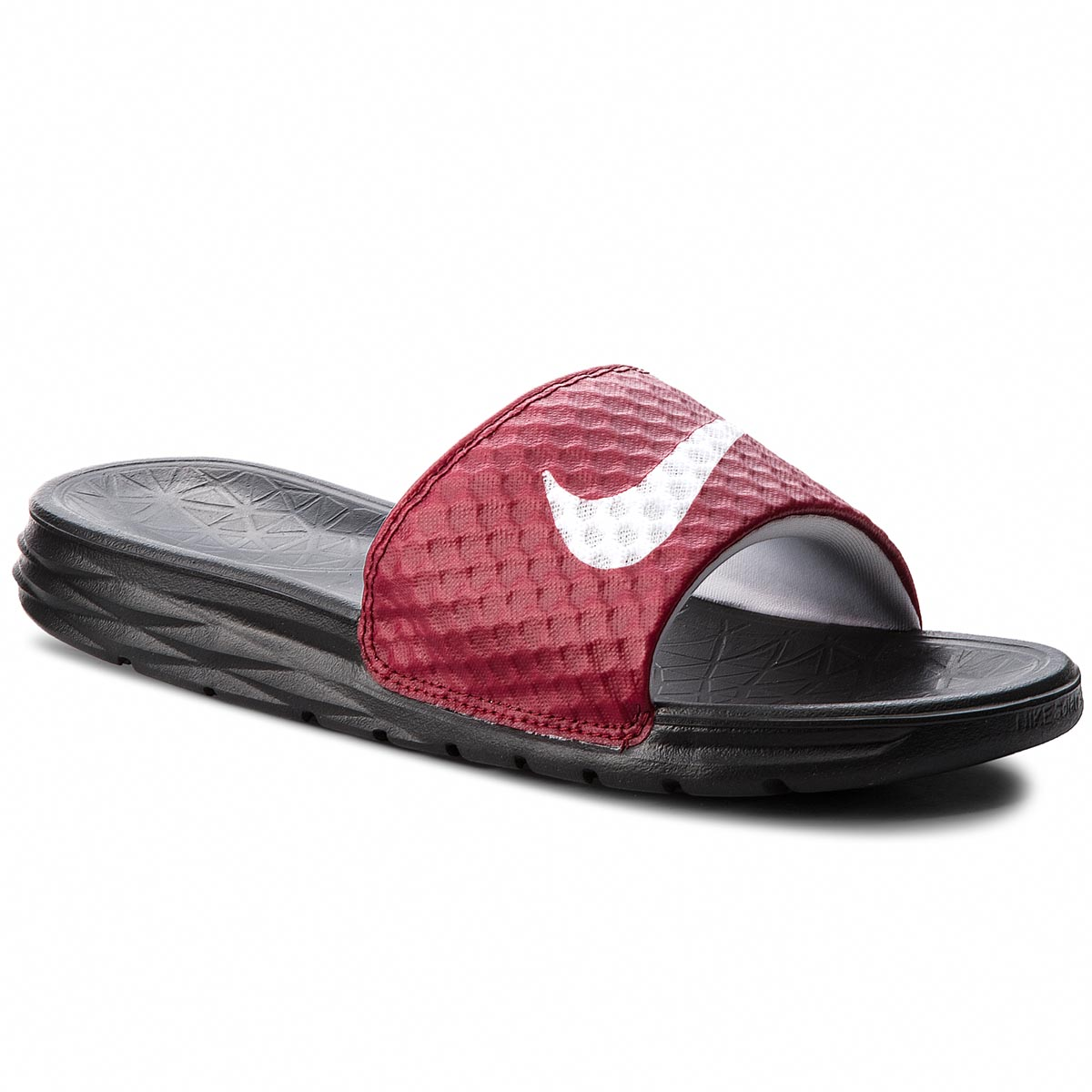 Șlapi NIKE - Benassi Solarsoft 705474 602 Team Red/White/Black