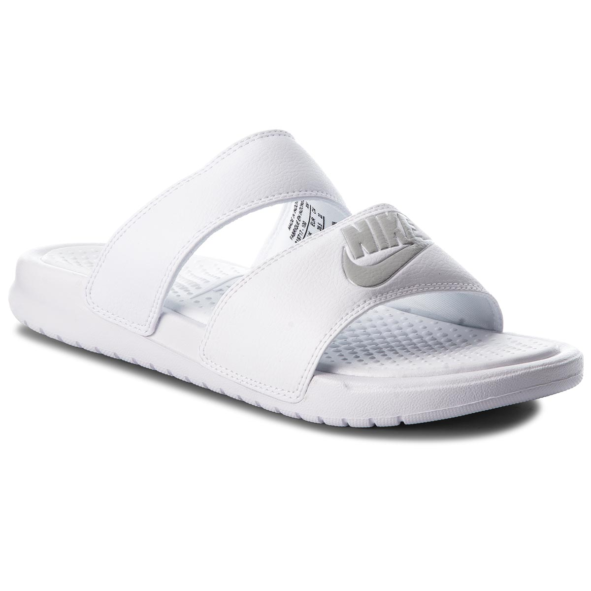 Șlapi NIKE - Benassi Duo Ultra Slide 819717 100 White/Metallic Silver
