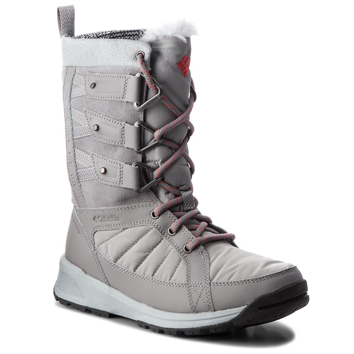 Cizme de zăpadă COLUMBIA - Meadows Shorty Omni-Heat 3D BL5967 Monument/Sunset Red 036