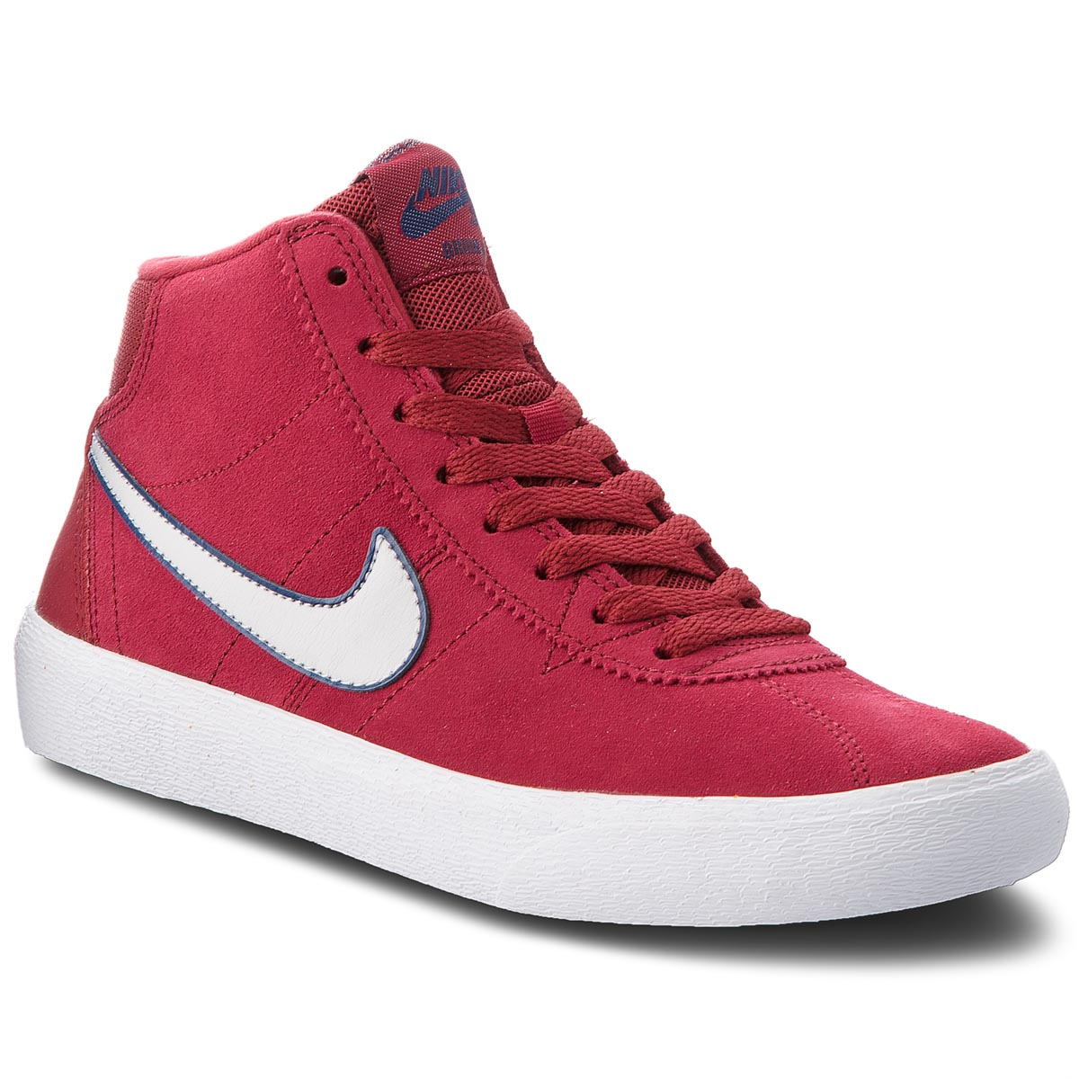 Pantofi NIKE - Sb Bruin Hi 923112 600 Red Crush/Vast Grey/White