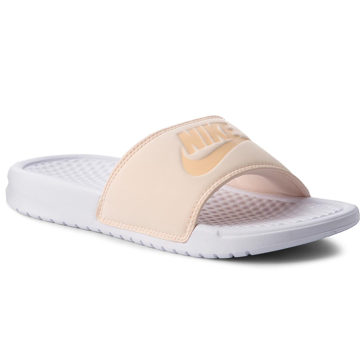 Șlapi NIKE - Benassi Jdi Pastel Qs AA4150 800 Orange Quartz/Ice Peach/White