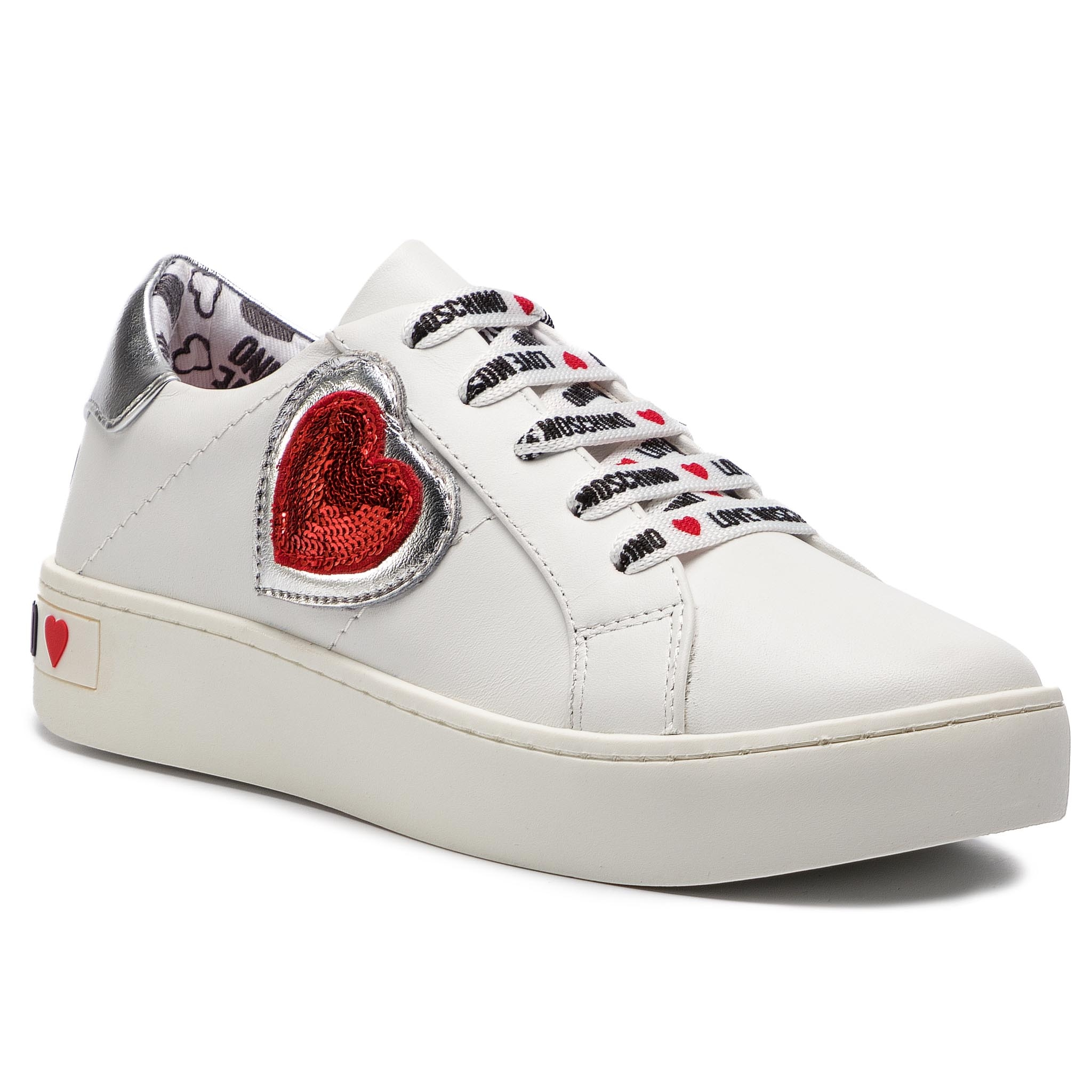 Sneakers LOVE MOSCHINO - JA15133G17IA310A Bianco/Argen