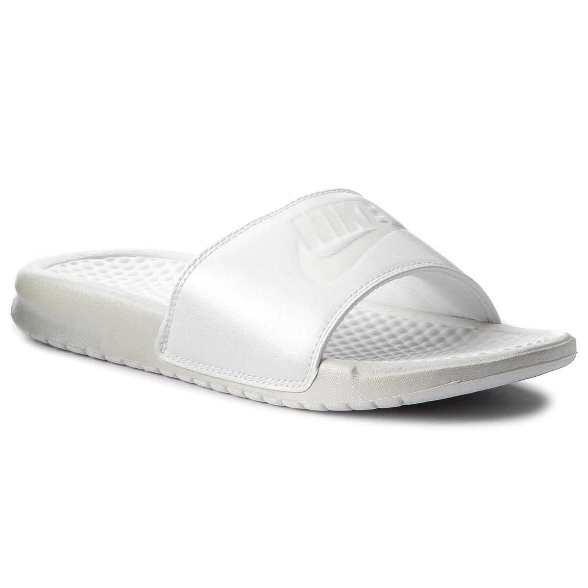 Șlapi NIKE - Benassi Jdi Metallic Qs AA4149 100 Mtlc Summit Wht/Summit White