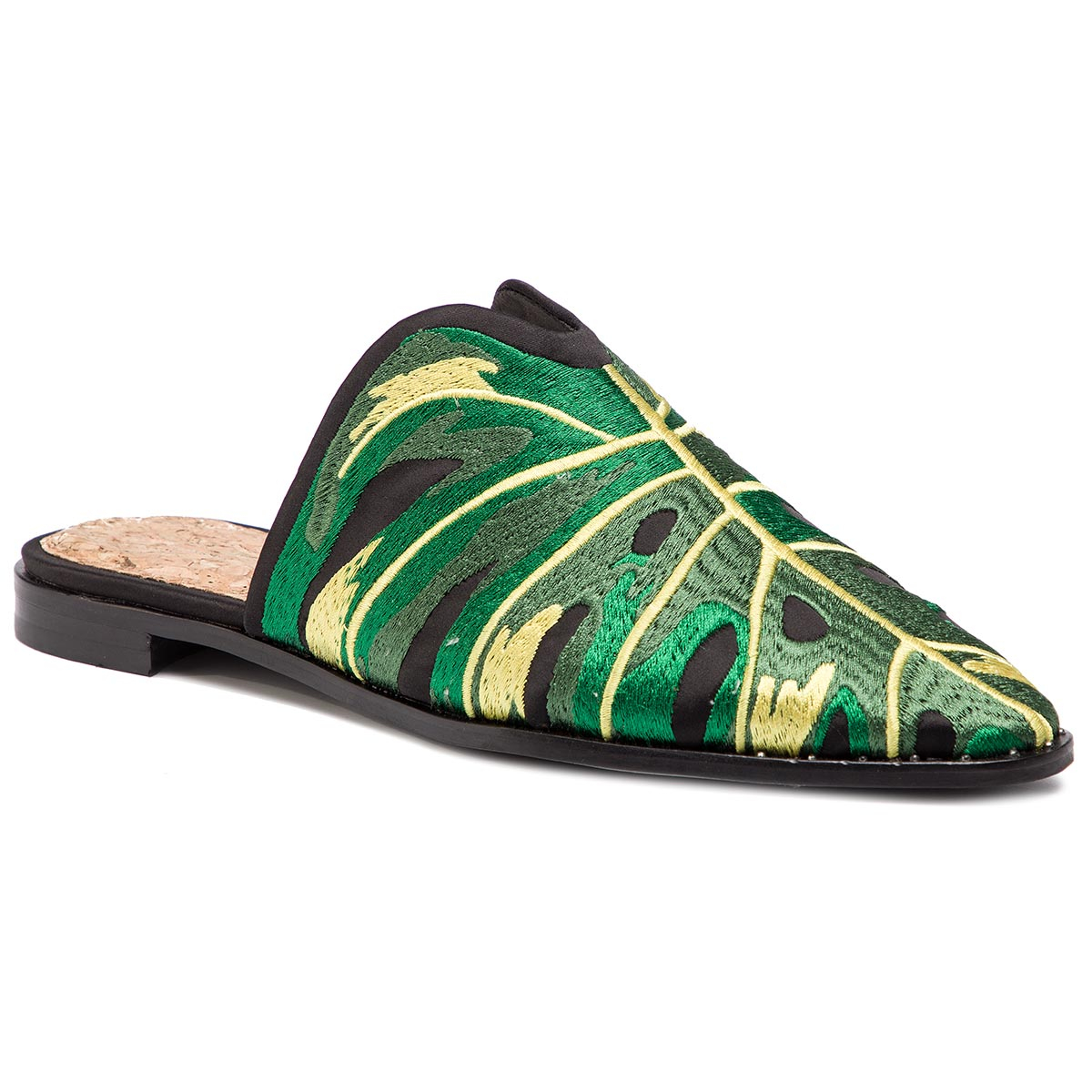 Șlapi SCOTCH & SODA - Kalin 18709620 Black/Green Leaf S04