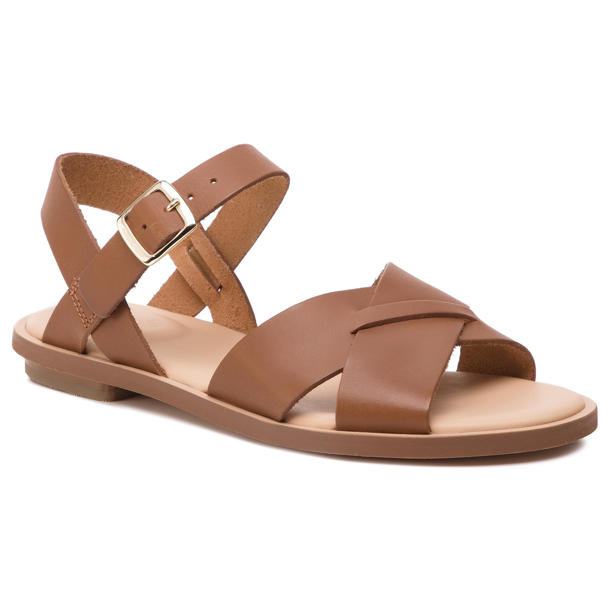 Sandale CLARKS - Willow Gild 261394314 Tan Leather