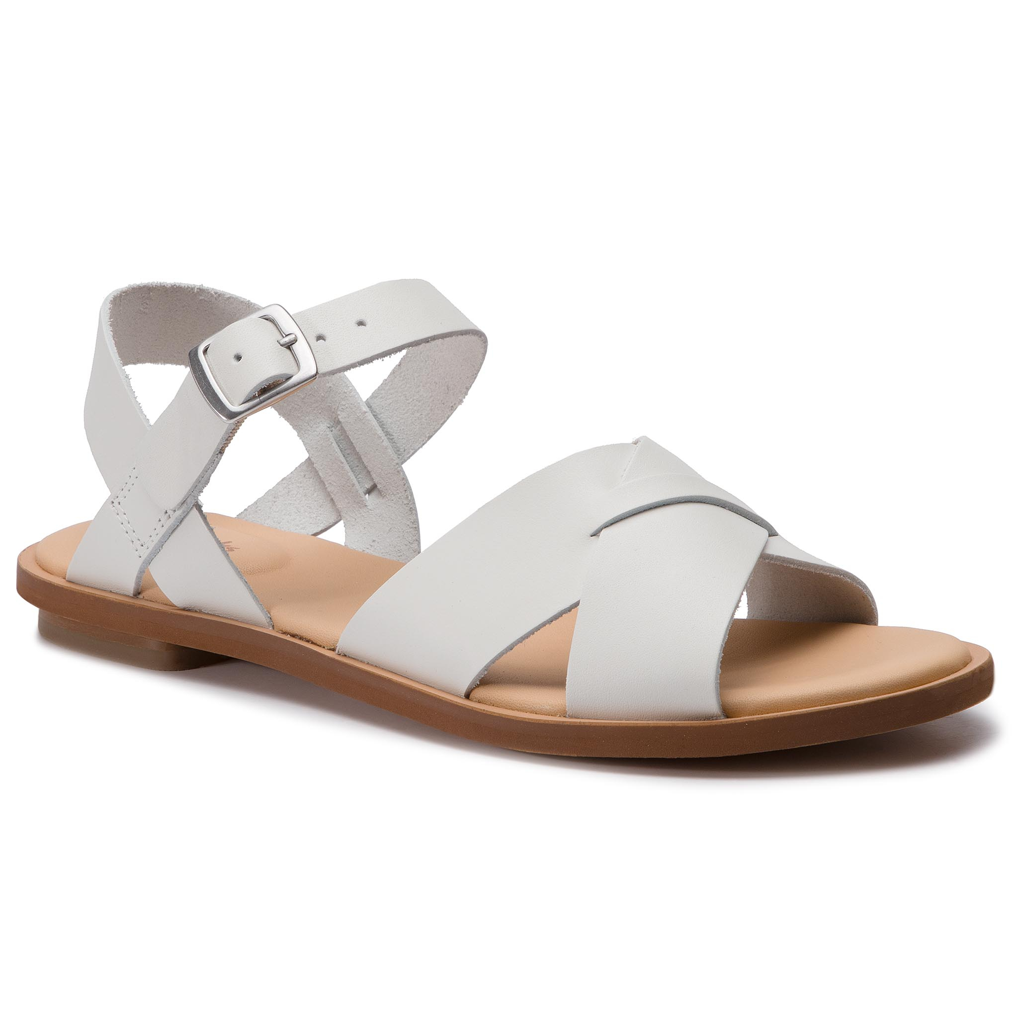 Sandale CLARKS - Willow Gild 261419174 White Leather
