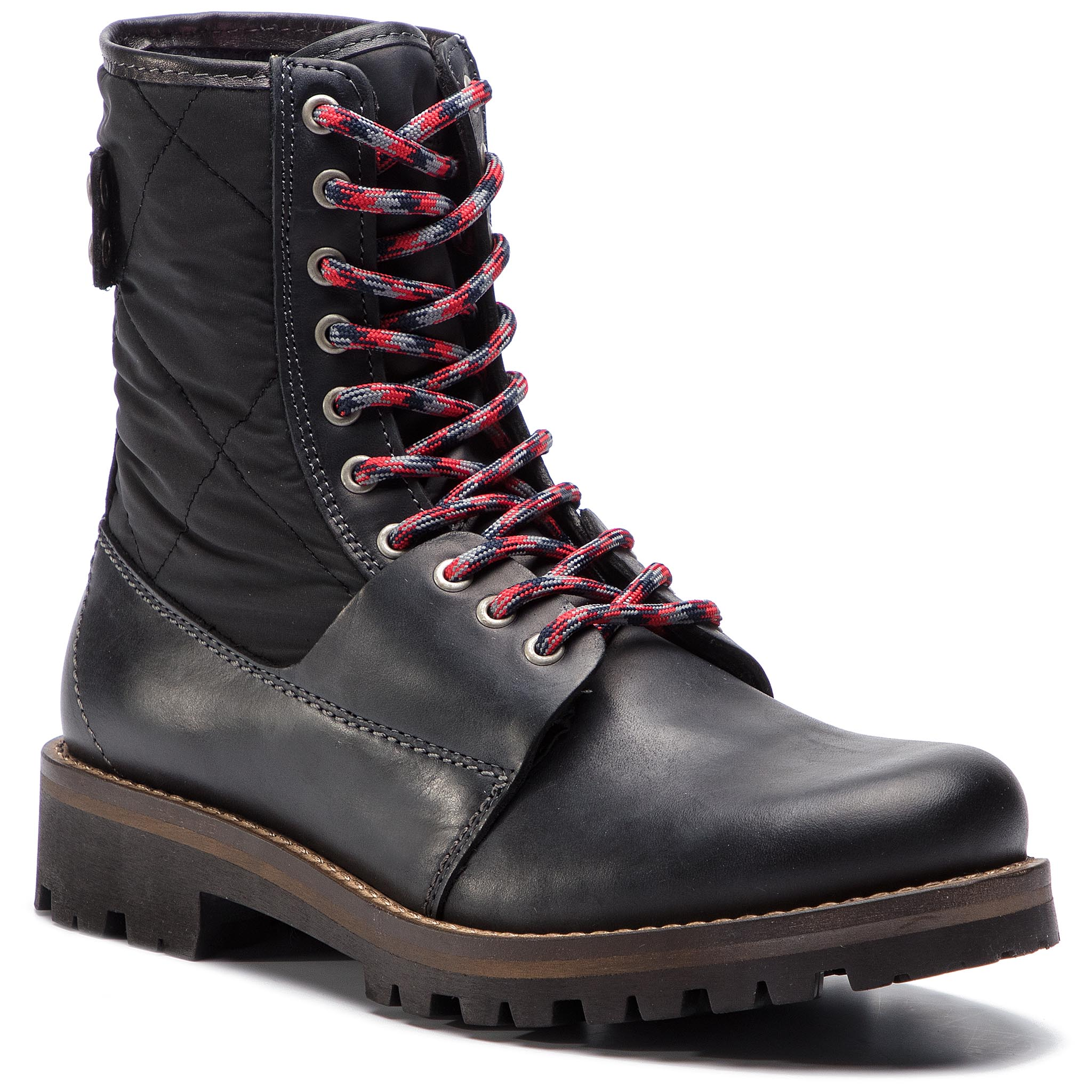 Trappers TOMMY HILFIGER - High Material Mix Winter Boot FM0FM02017 Black 990