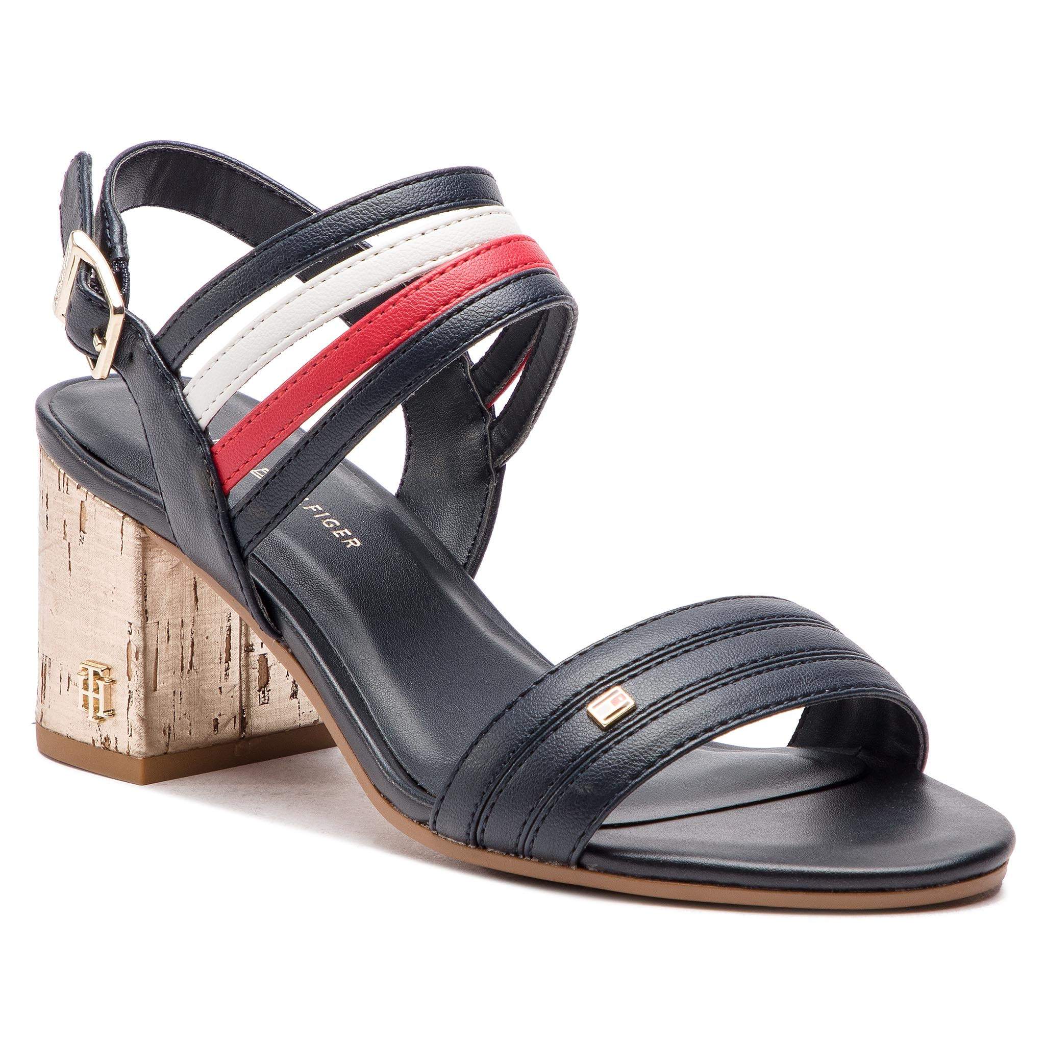 75f536f781a4 Sandale TOMMY HILFIGER - Corporate Wedge Sandal Sporty FW0FW02396 ...