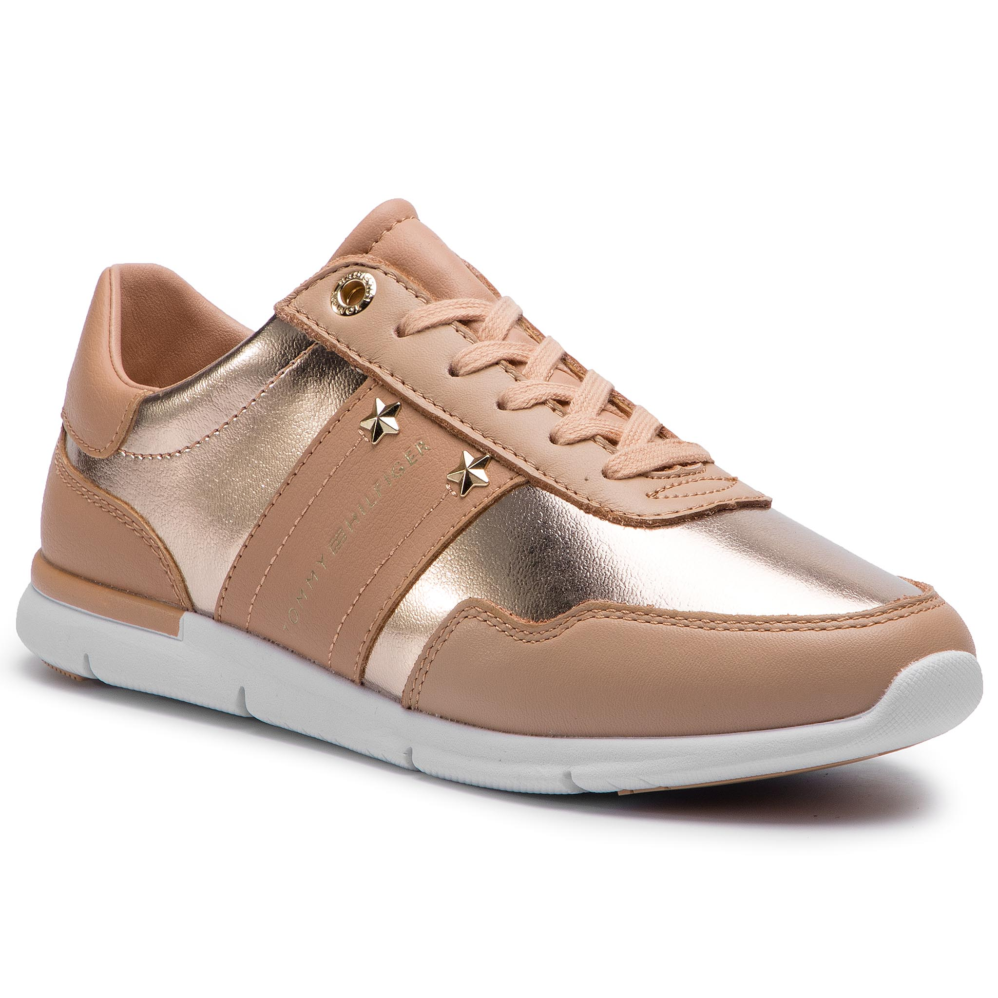 899672ae11754 Sneakers TOMMY HILFIGER Tommy Essential Leather Sneaker FW0FW03688 Peach  Rose 653