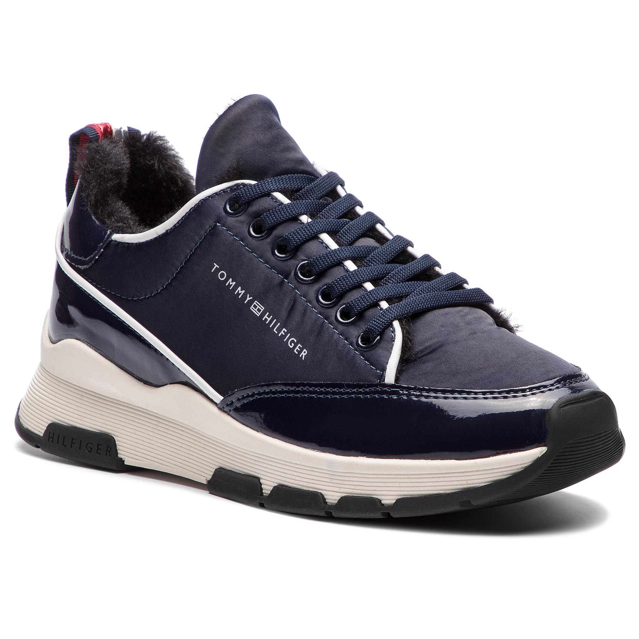 Sneakers TOMMY HILFIGER - Cool Technical Satin Sneaker FW0FW03970 Midnight 403