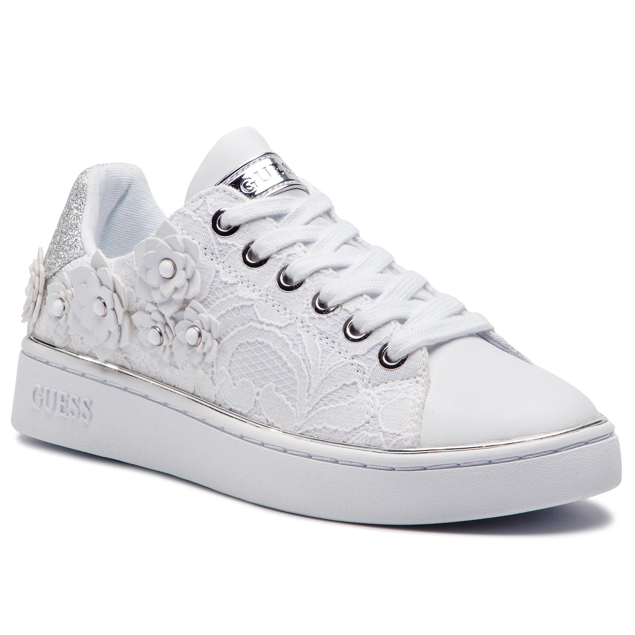 Sneakers GUESS - Bessia FL5BES LAC12 WHITE