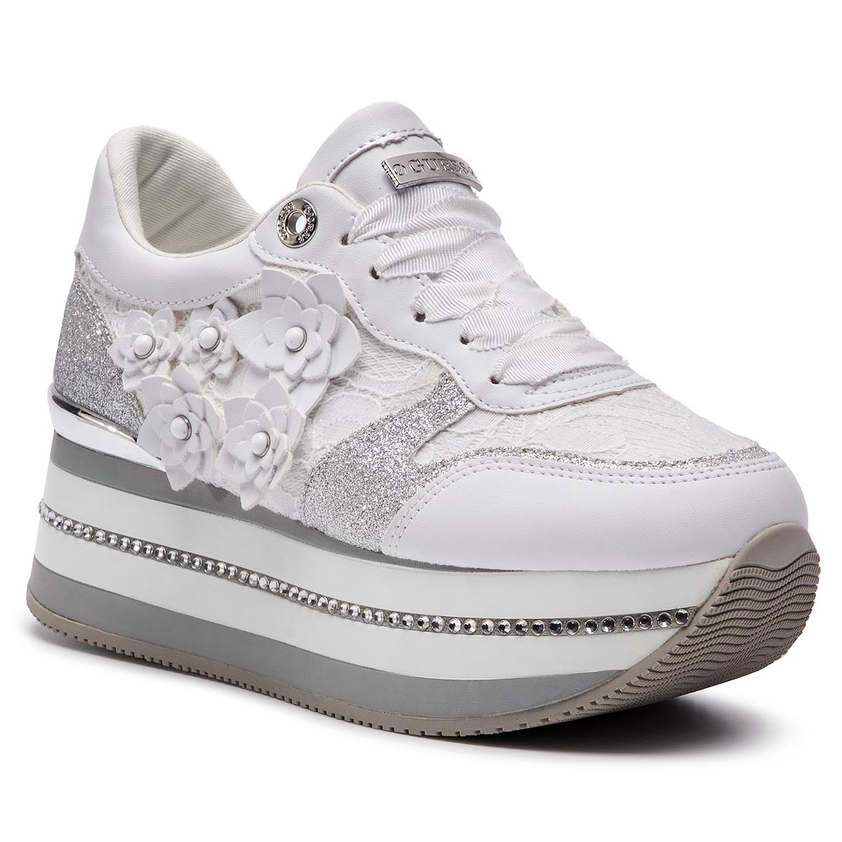 Sneakers GUESS - FL5HIN LAC12 WHITE