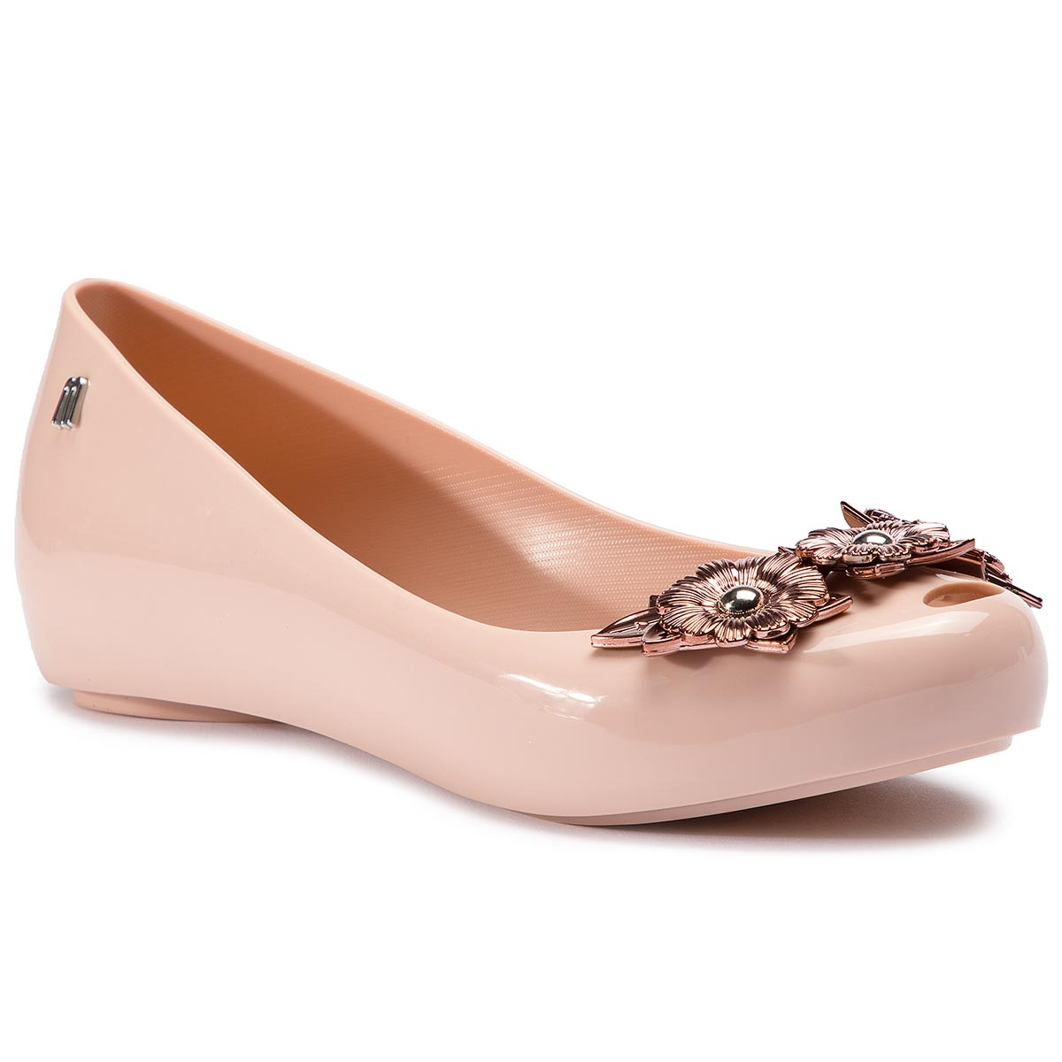 Balerini Melissa - Ultragirl Flower Chrom 32655 Pink/Pink 50910 imagine epantofi.ro