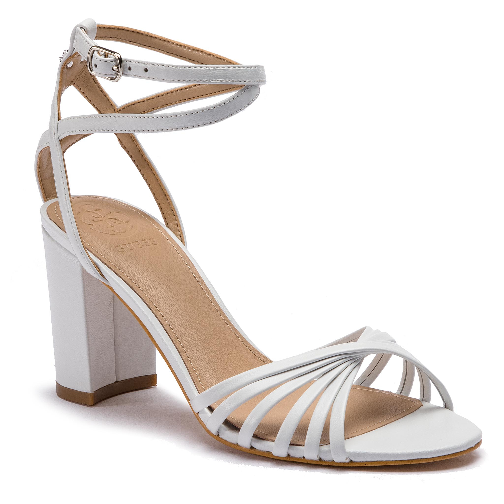 Sandale GUESS - Madesta FL6MAD LEA03 WHITE