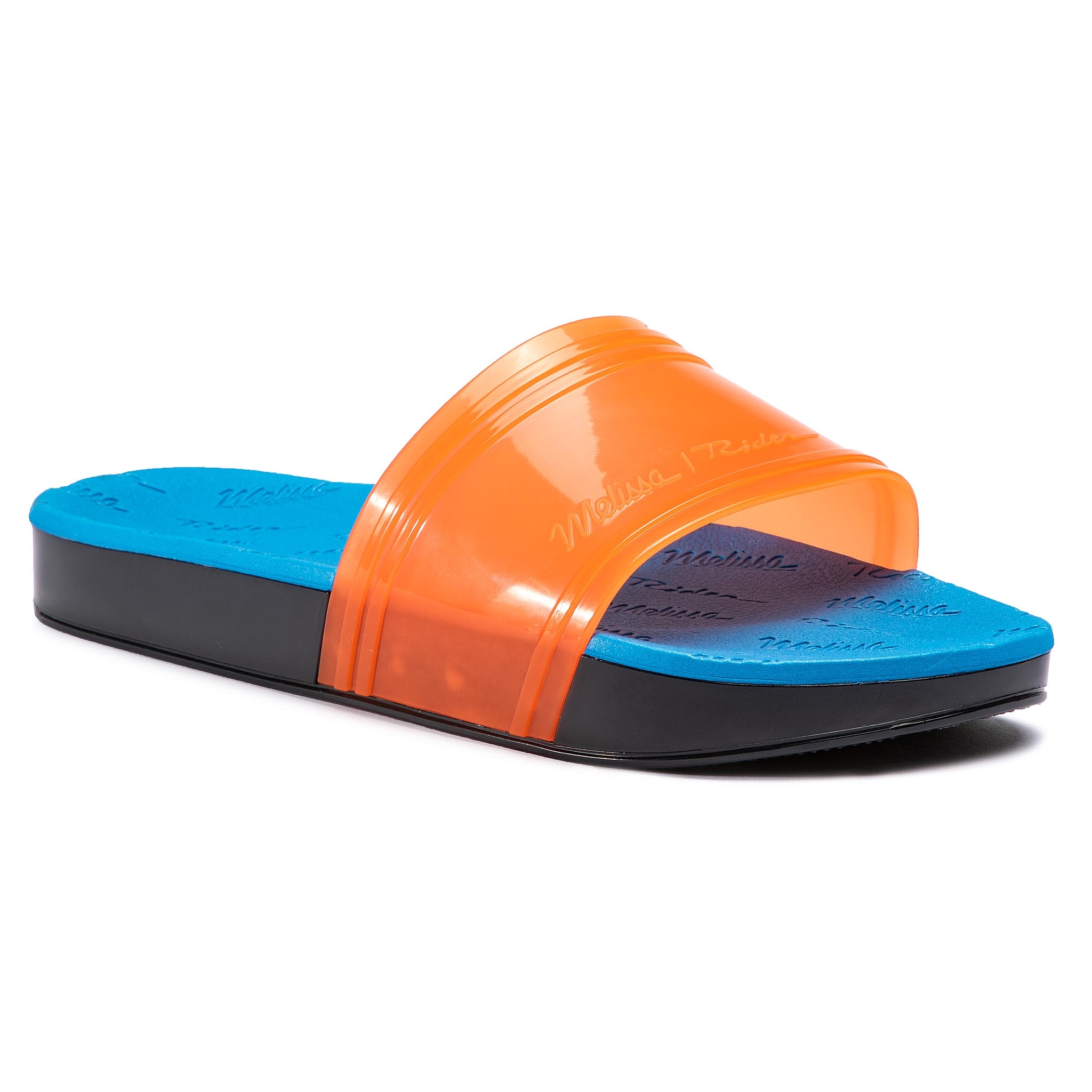 Șlapi MELISSA - Slide + Rider Ad 32434 Orange/Blue/Green 53430