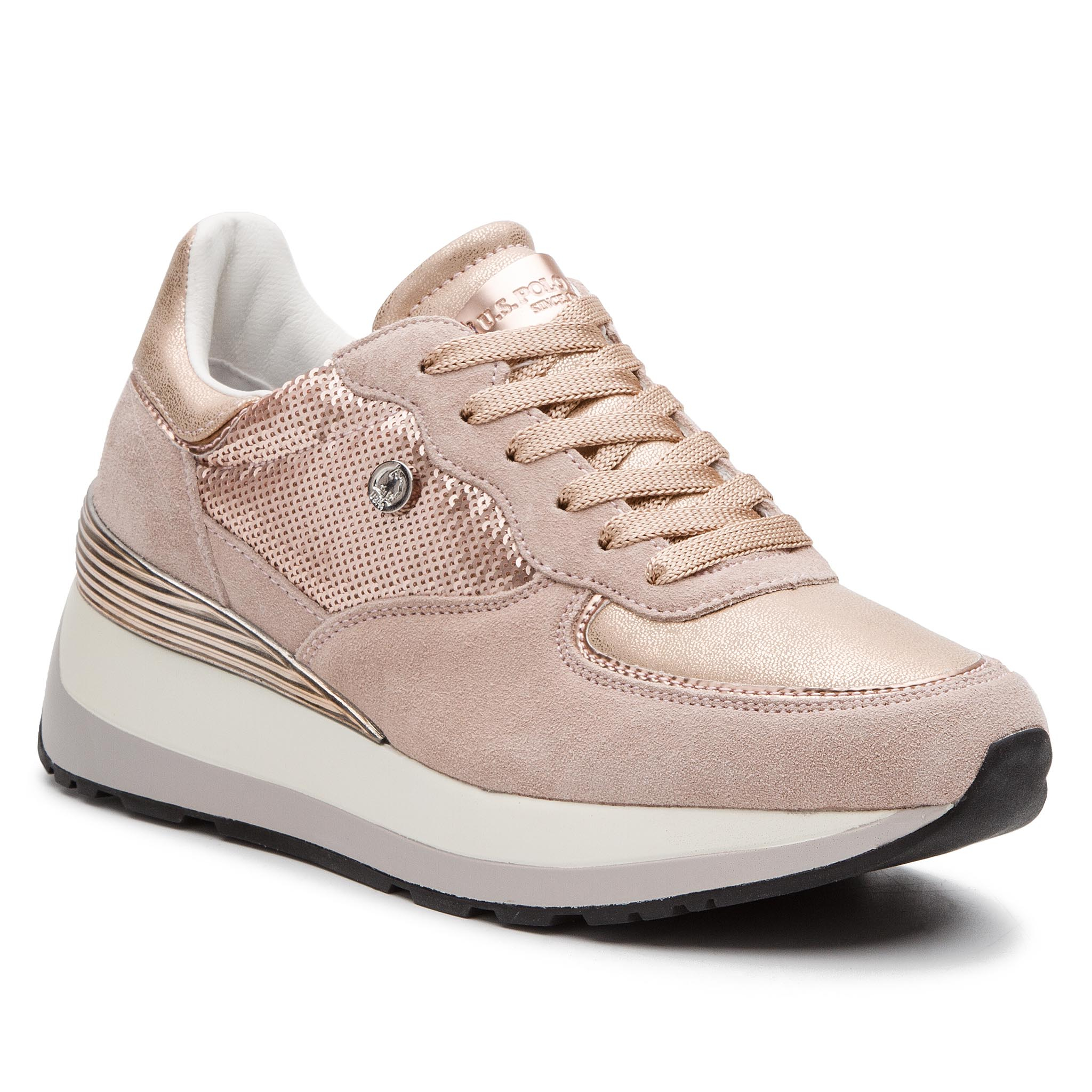 Sneakers U.S. POLO ASSN. - Valery1 Paillettes YLA4011W8/ST1 Pink