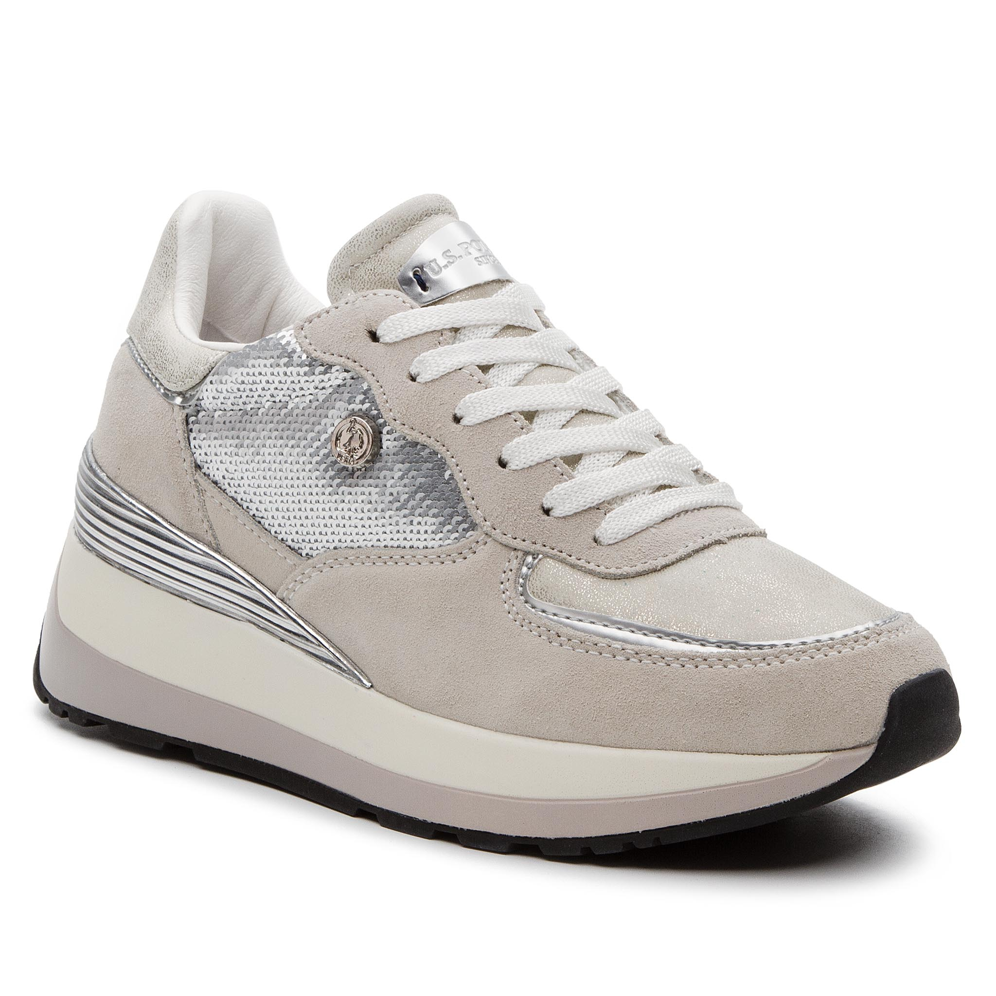 Sneakers U.S. POLO ASSN. - Valery1 Paillettes YLA4011W8/ST1 Sil