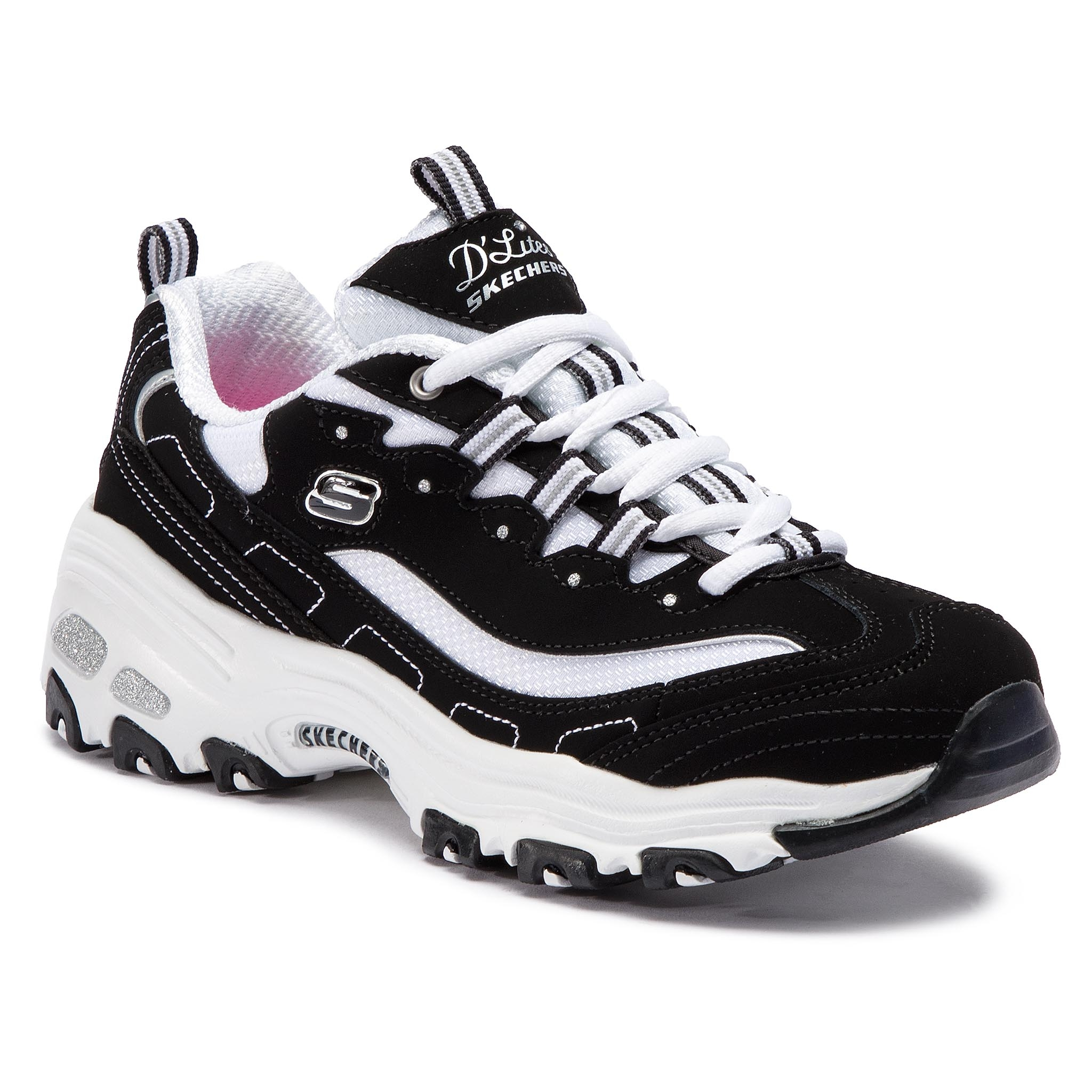 Sneakers SKECHERS - D'lites Biggest Fan 11930/BKW Black/White