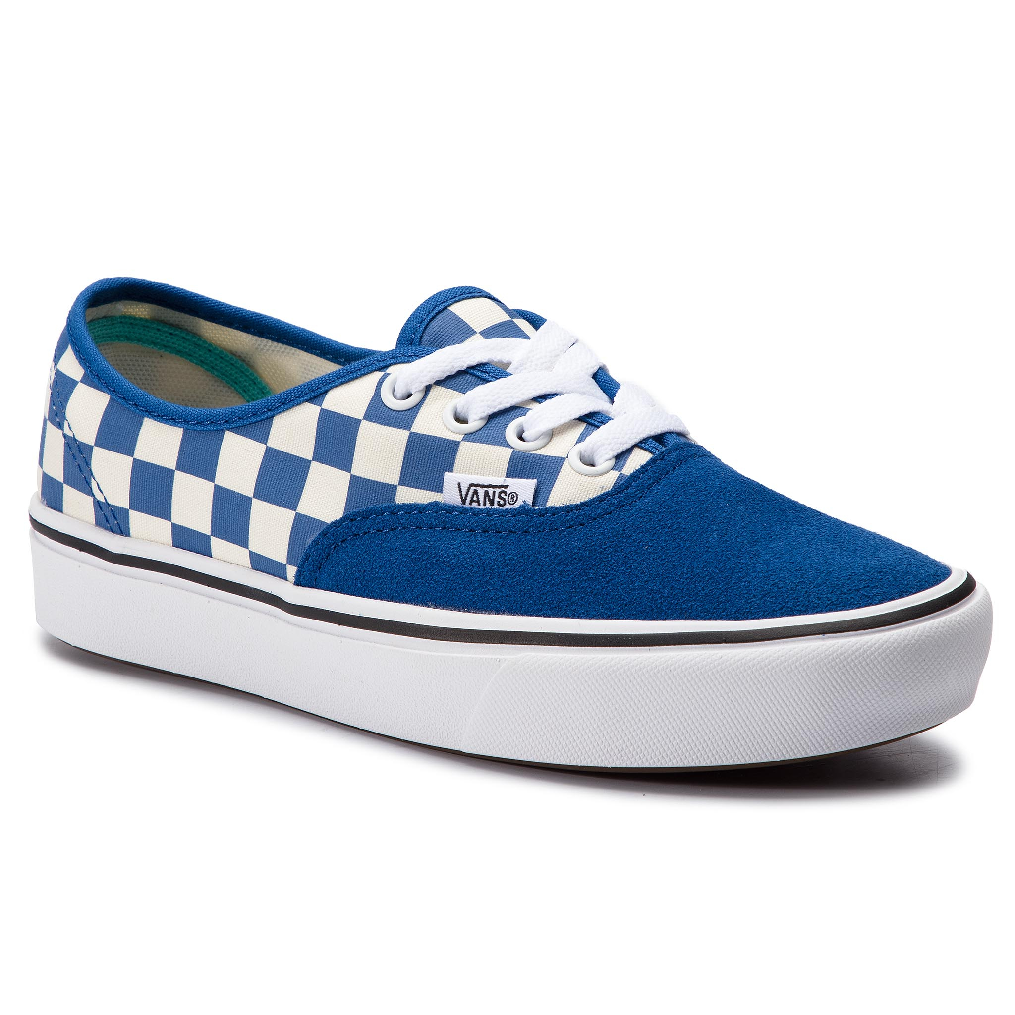 Teniși Vans - Comfycush Authent Vn0a3wm7vna1 (Checker) Lapis Blue/True imagine epantofi.ro 2021