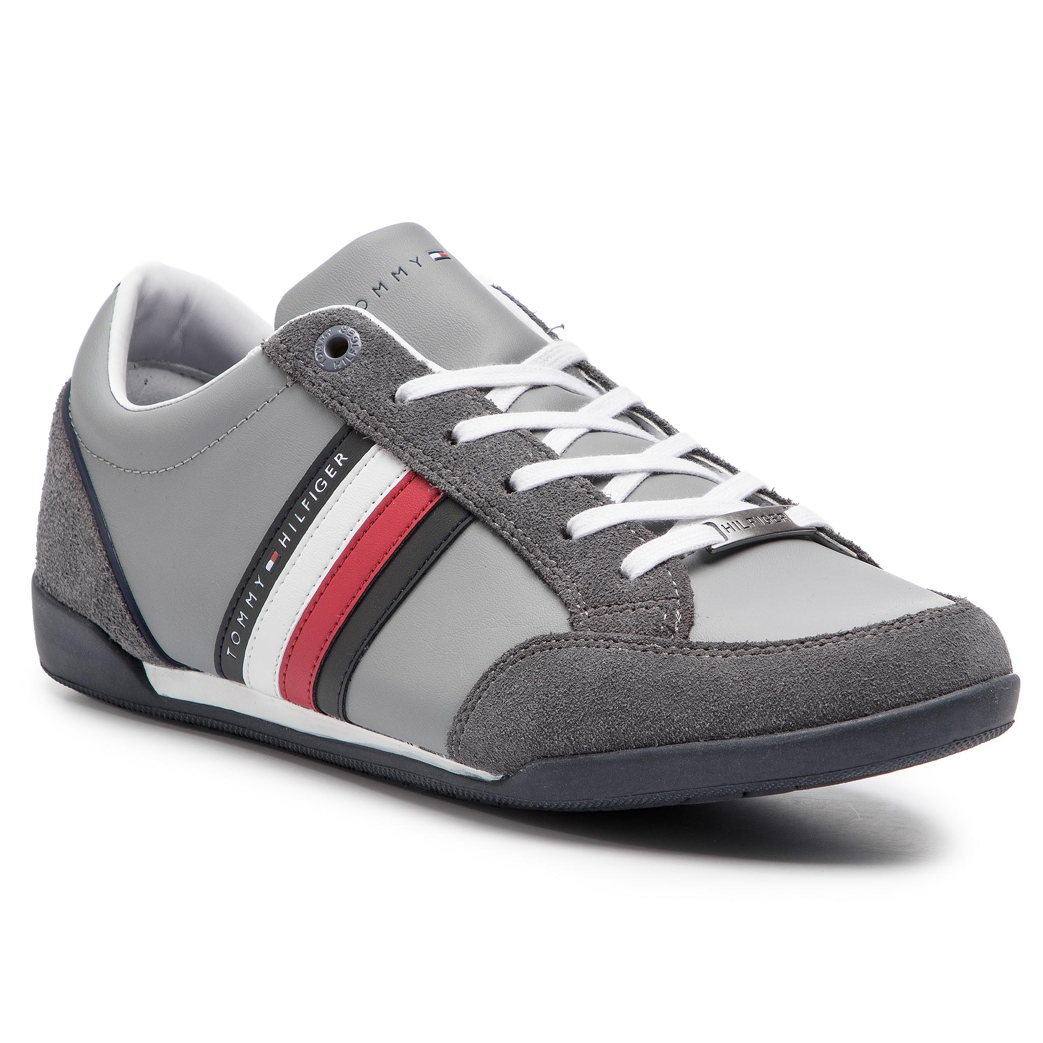 Sneakers TOMMY HILFIGER - Corporate Material Mix Cupsole FM0FM02046 Steel Grey 039
