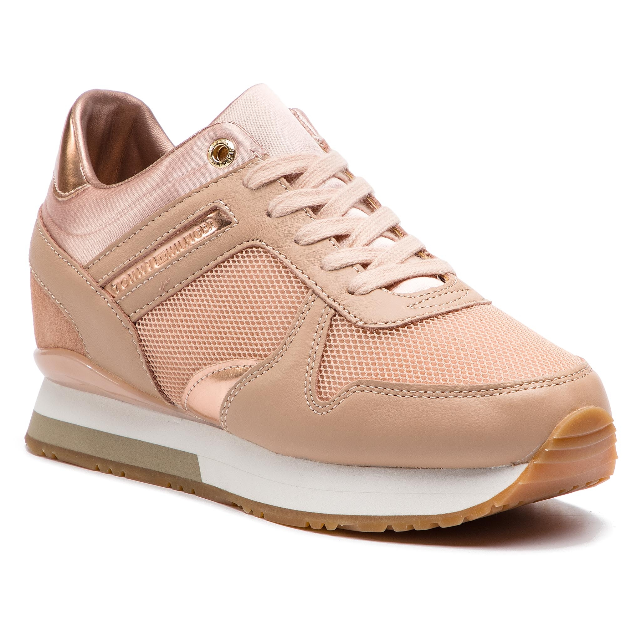 Sneakers TOMMY HILFIGER - Glitter Textile Wedge Sneaker FW0FW03893 Mahogany  Rose 656 ... be59cfcbb0