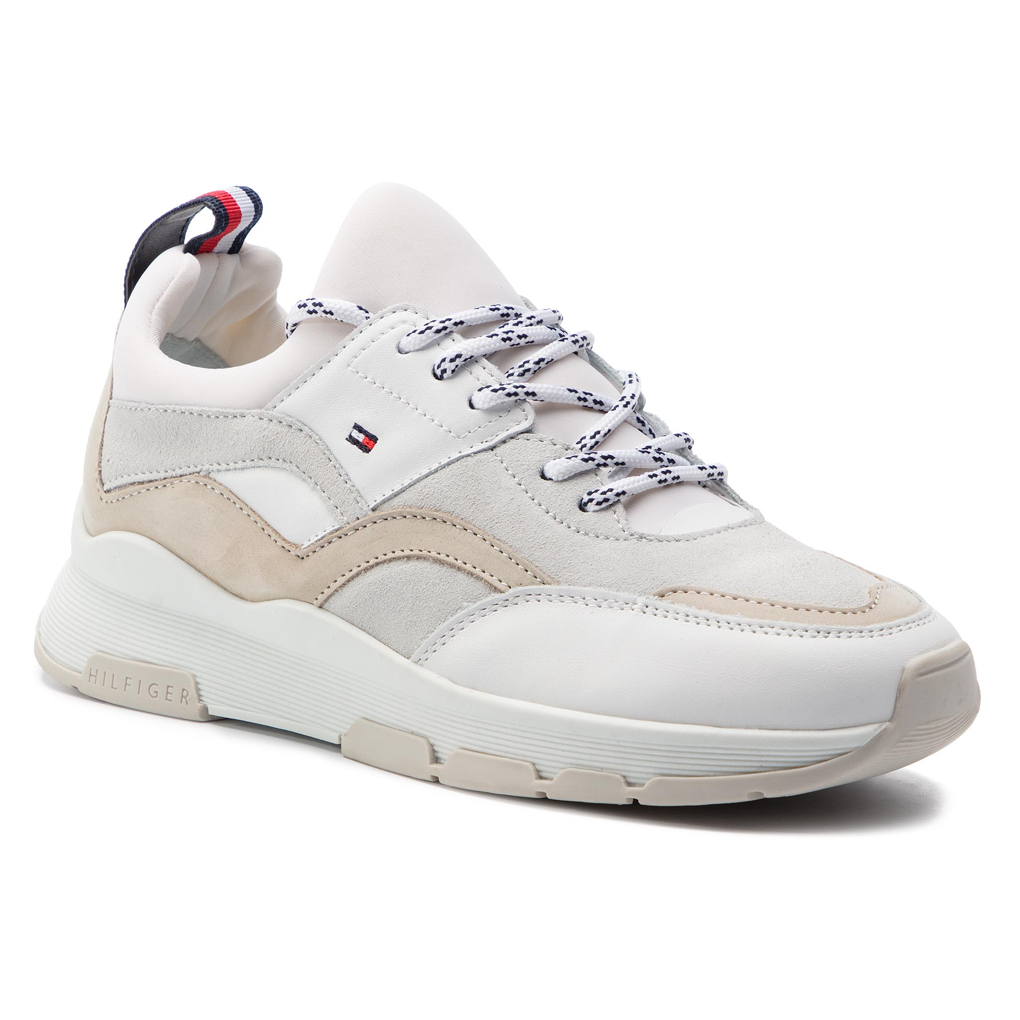 Sneakers TOMMY HILFIGER - Lifestyle Sneaker FW0FW04115 White 100 ... c7cb7ad14a
