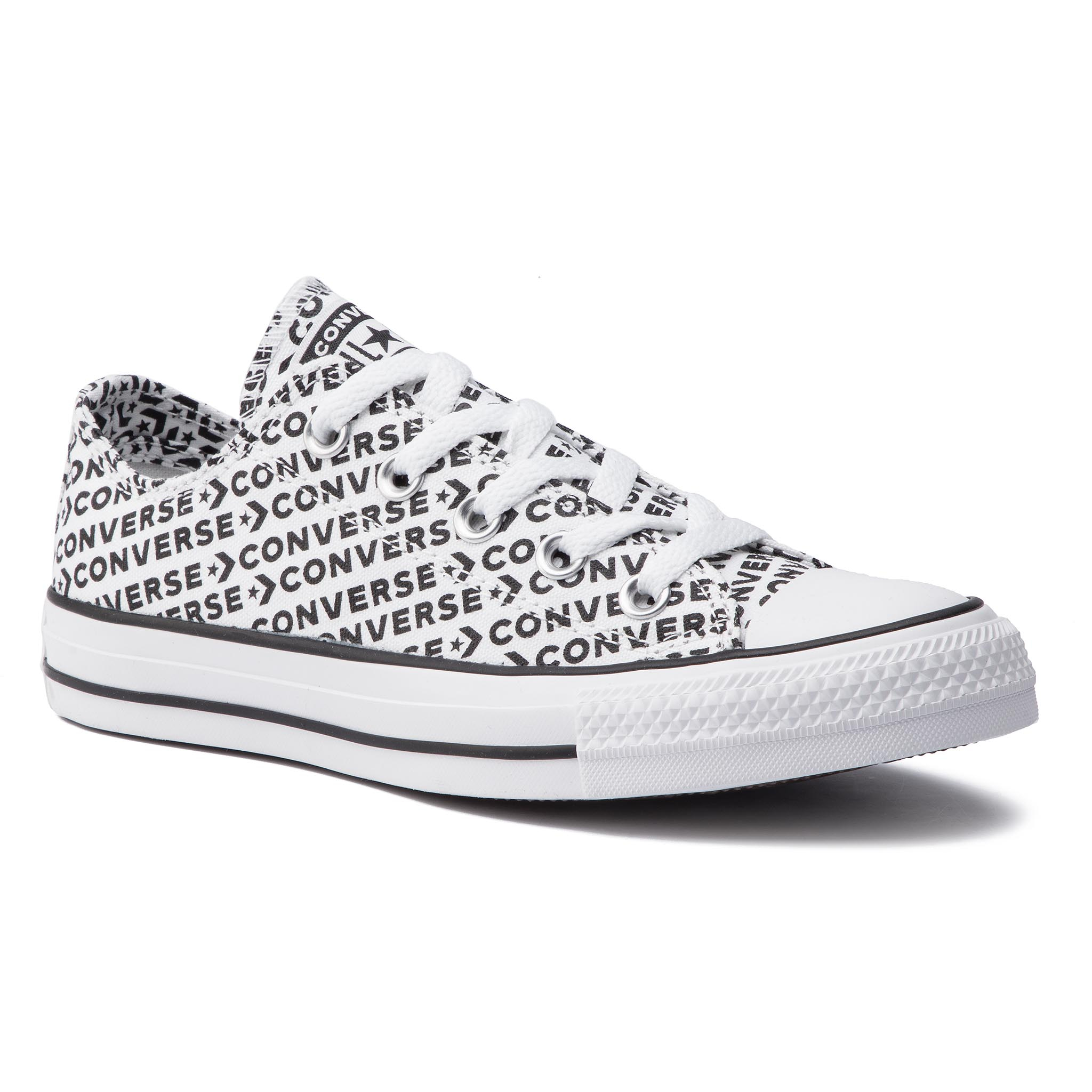 Teniși Converse - Ctas Ox 164020c White/Black/White imagine epantofi.ro 2021