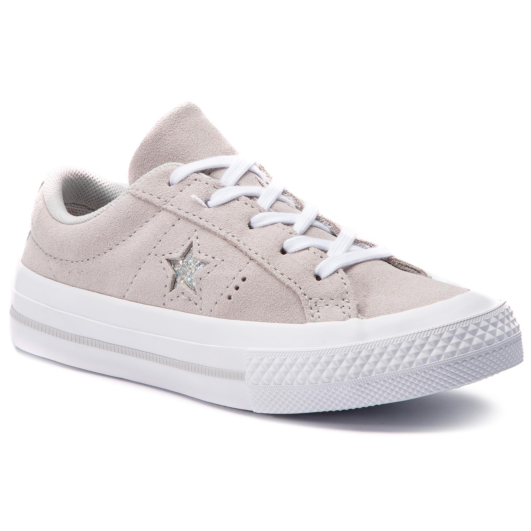 Teniși CONVERSE - One Star Ox 663589C Mouse/Mouse/White