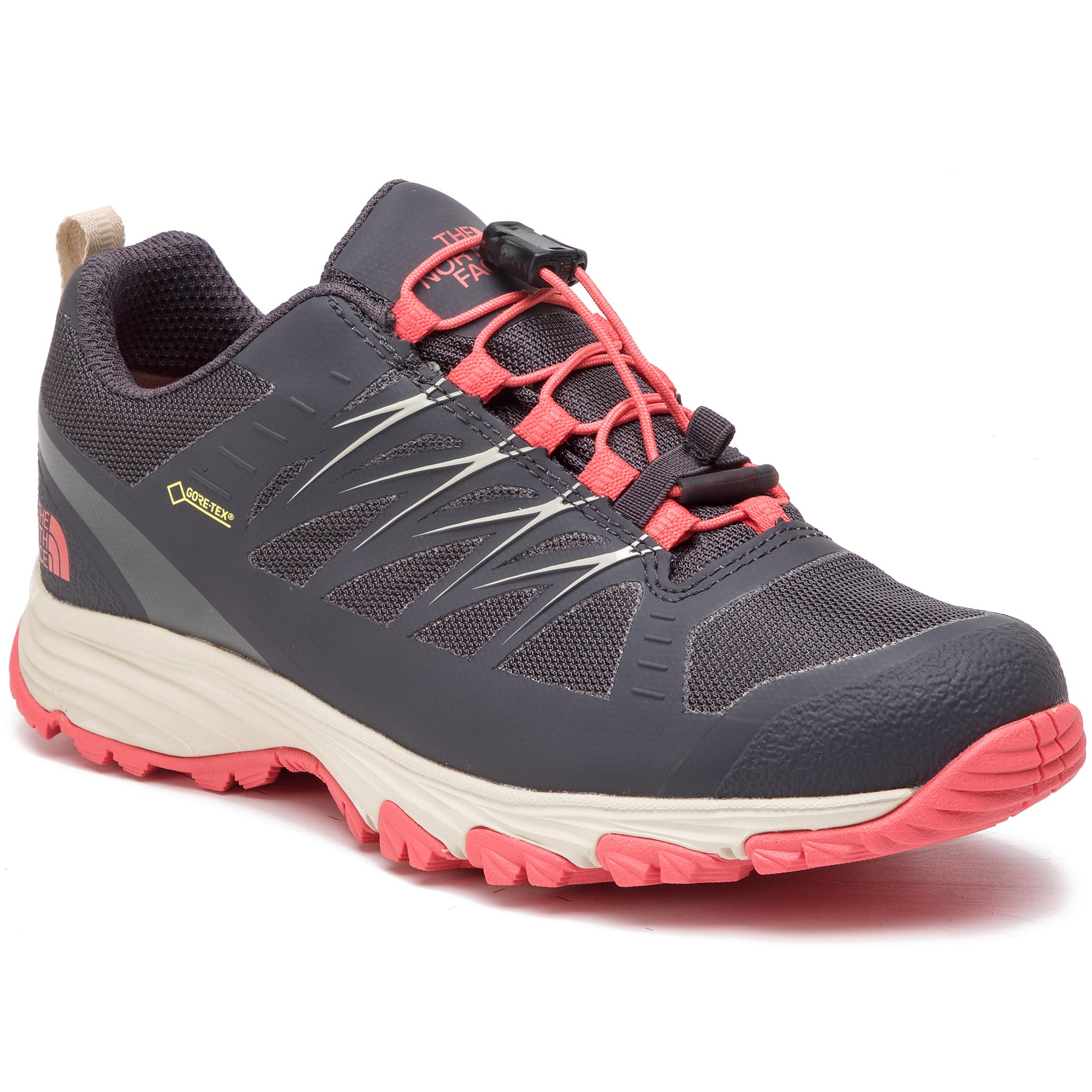 Pantofi THE NORTH FACE - Venture Fastlace GORE-TEX NF0A3FYZDC0 Blackened Pearl/Fiesta Red