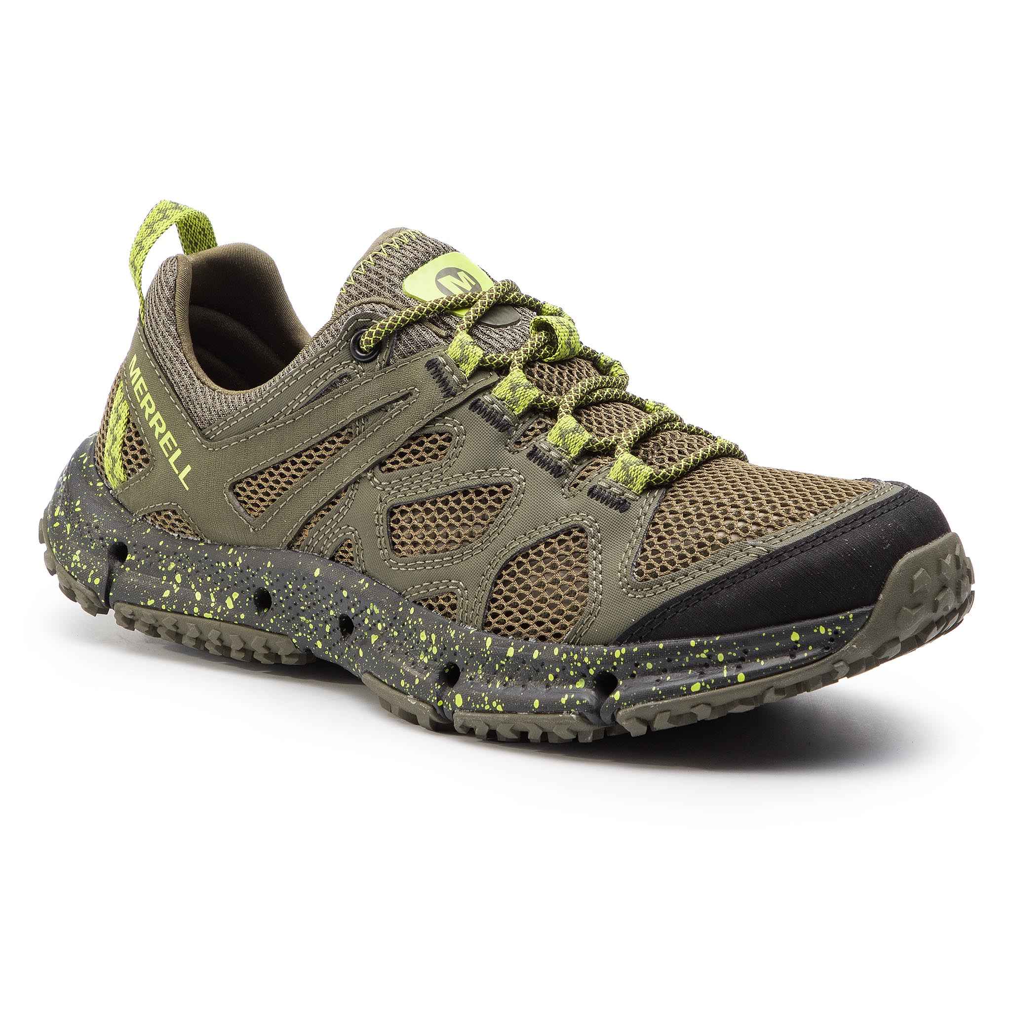Trekkings Merrell - Hydrotrekker J50187 Dusty Olive/Lime imagine epantofi.ro 2021