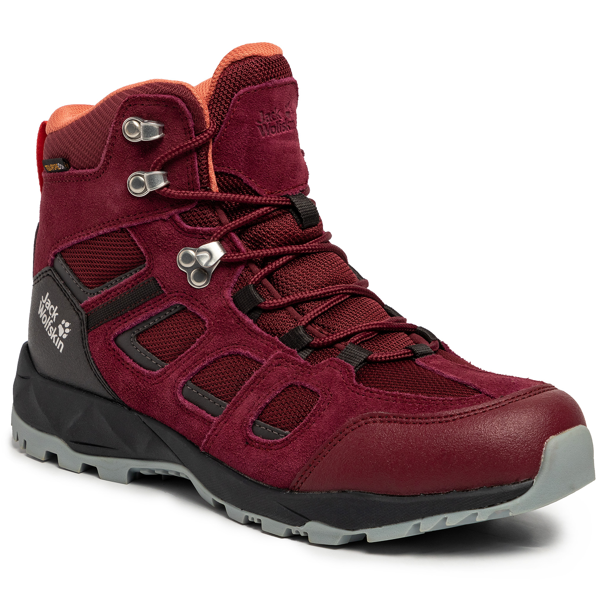 Trekkings Jack Wolfskin - Vojo Hike Xt Texapore Mid W 4035571 Burgundy/Phantom imagine epantofi.ro 2021