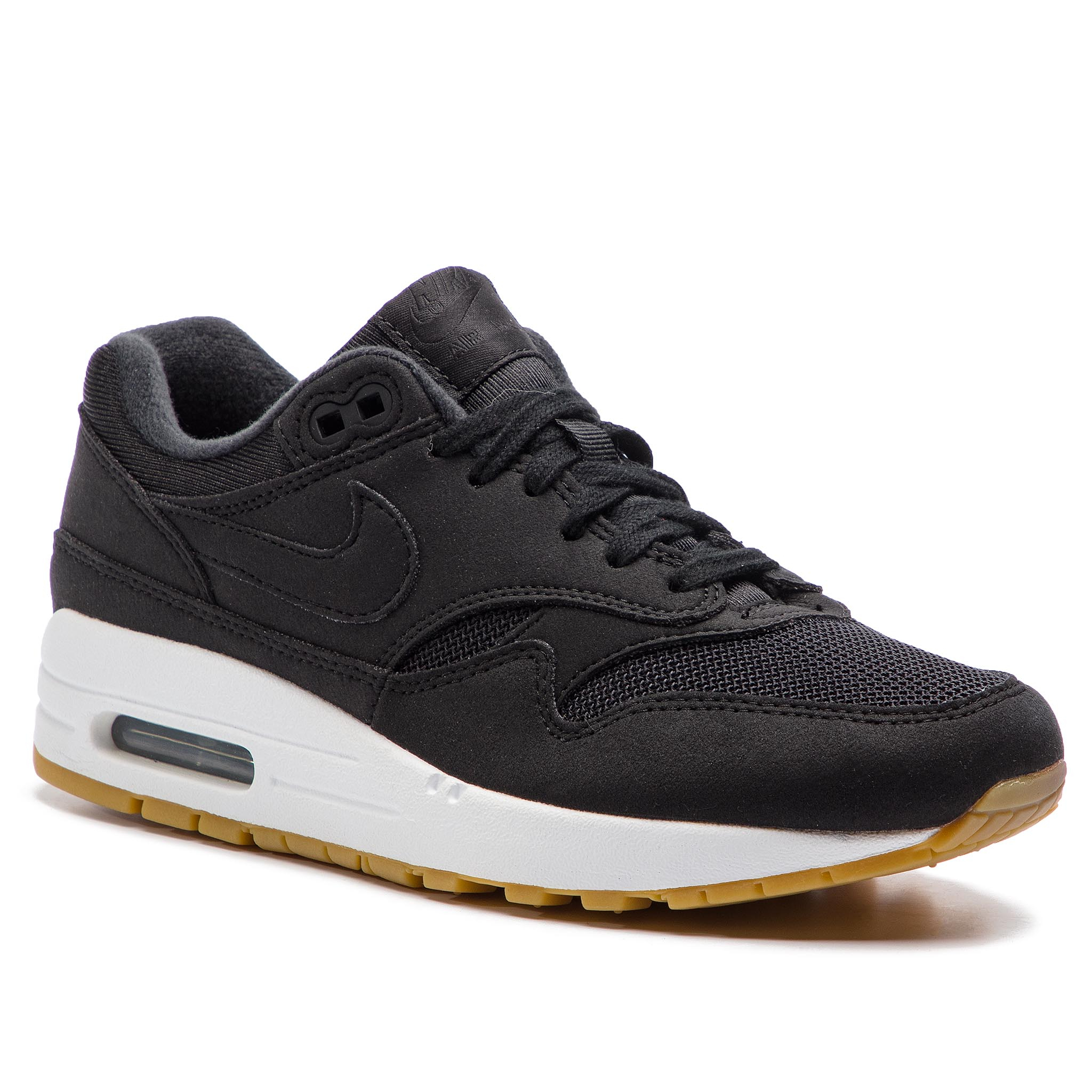 check out f9470 5cb1f Pantofi NIKE Air Max 1 319986 037 Black Black Gum Light Brown
