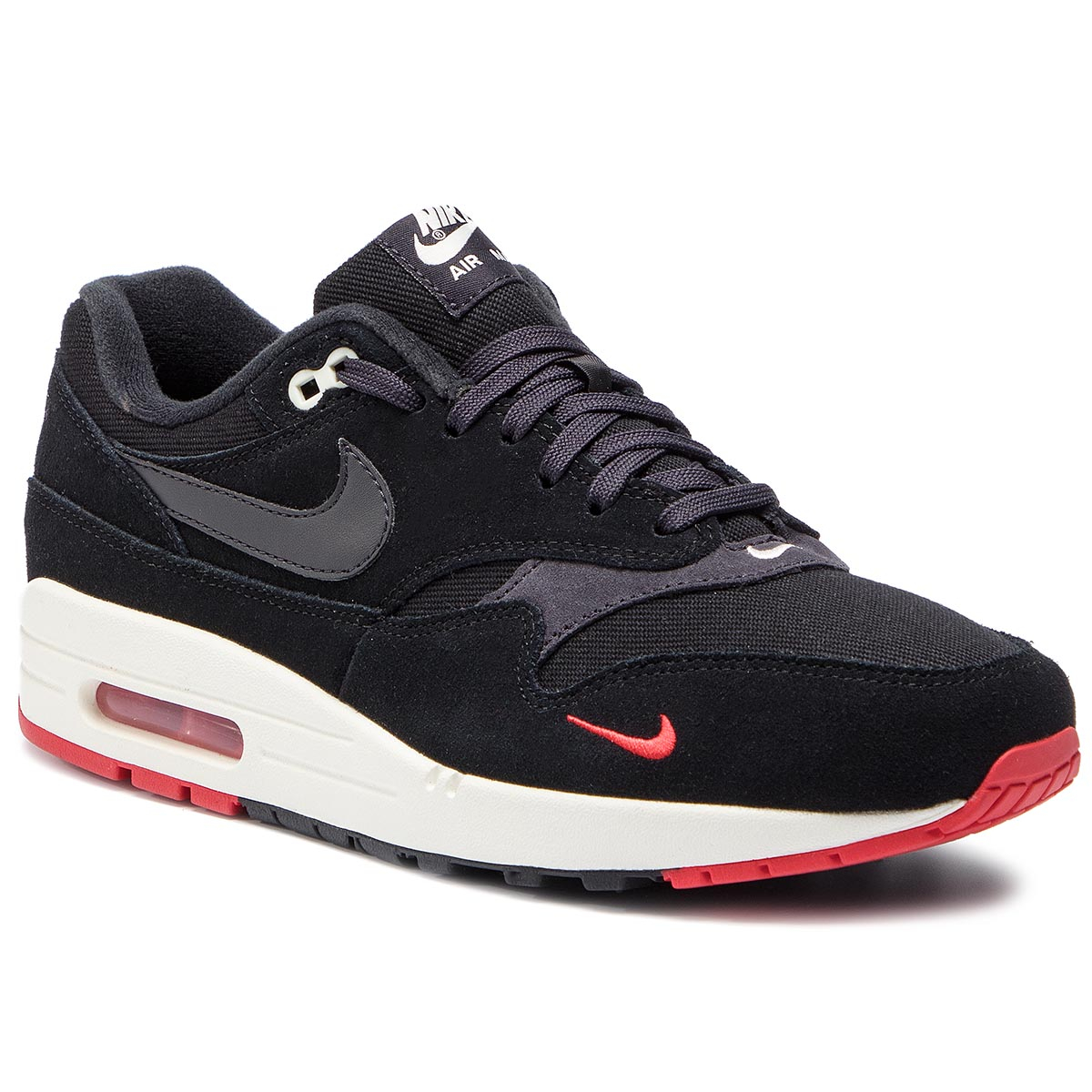 Pantofi NIKE - Air Max 1 Premium 875844 007 Black/Oil Grey/University Red