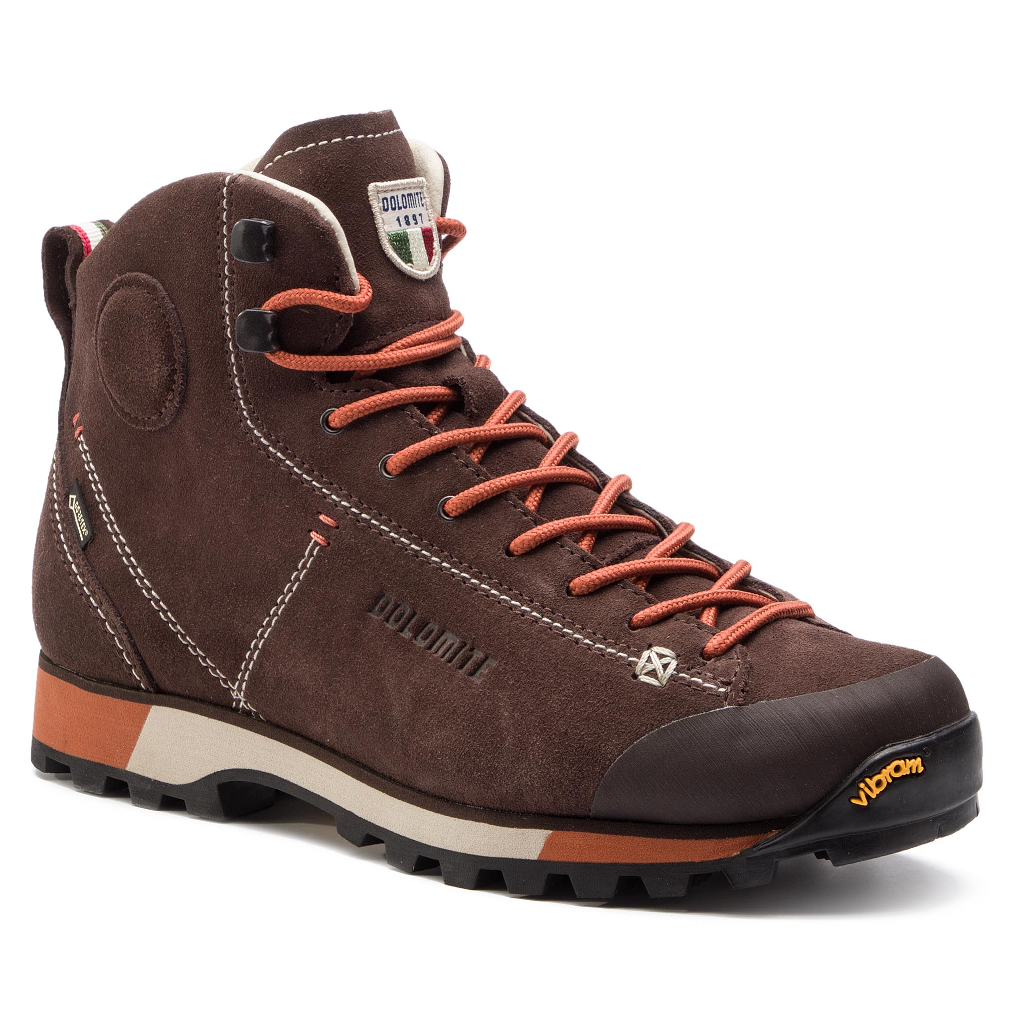Trekkings Dolomite - Cinquantaquattro Hike Gtx Gore-Tex 269482-1137 Dark Brown/Red imagine epantofi.ro 2021