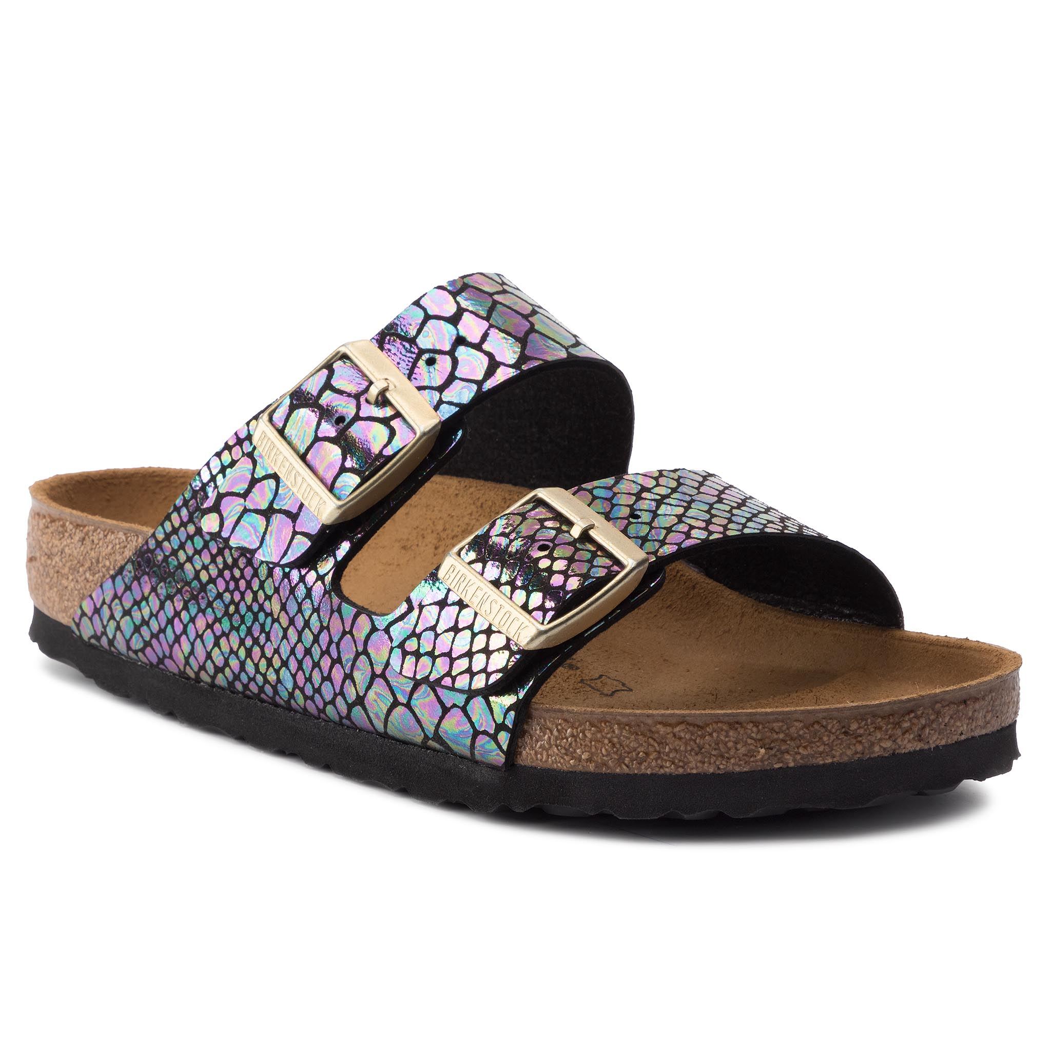 Șlapi BIRKENSTOCK - Arizona Bs 1003462 Shiny Snake Black Multicolor