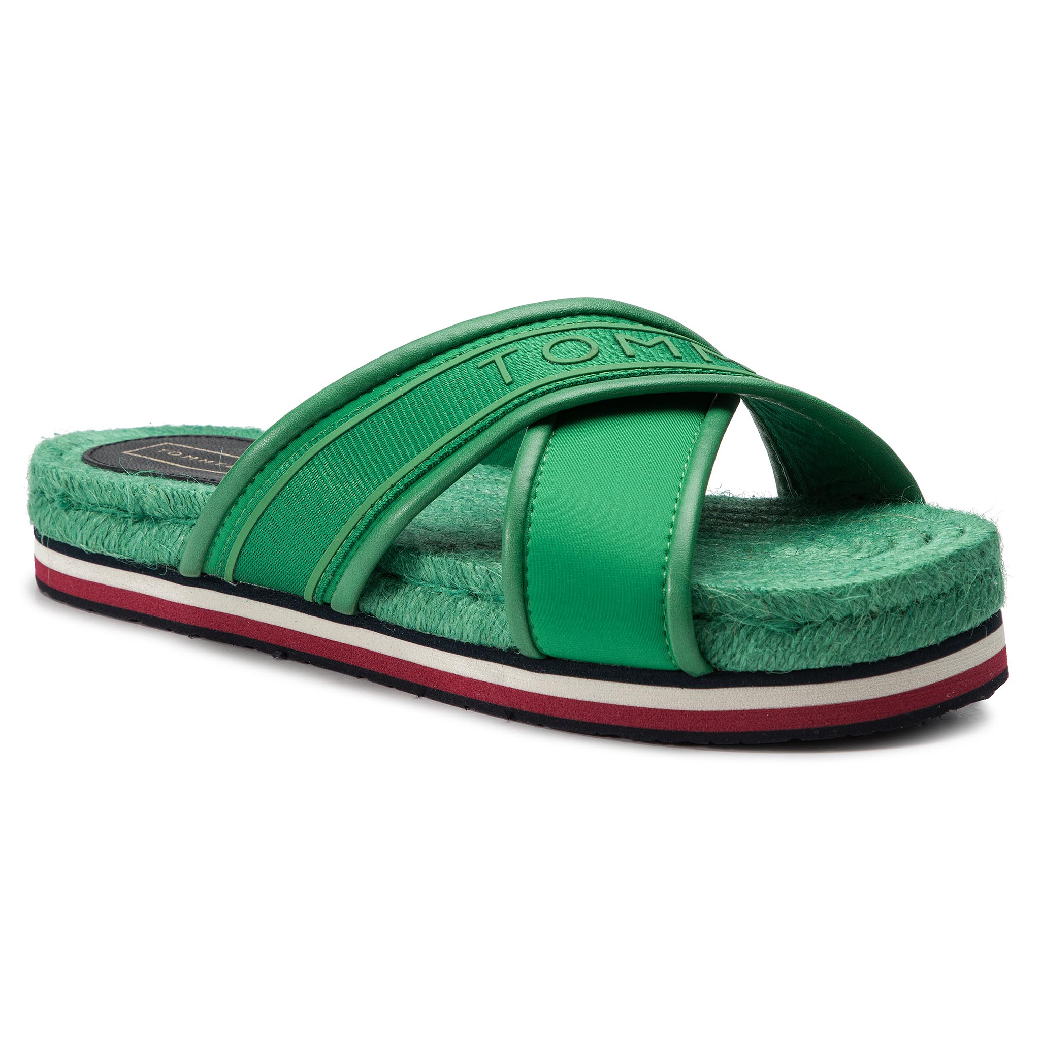 Espadrile TOMMY HILFIGER - Colorful Tommy Flat Sandal FW0FW04159 Jelly Bean 321