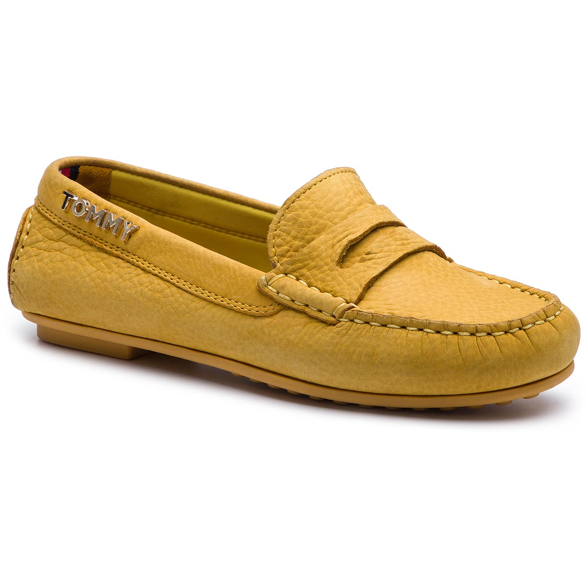 Mocasini TOMMY HILFIGER - Colorful Tommy Moccasin FW0FW04398 Spectra Yellow 730