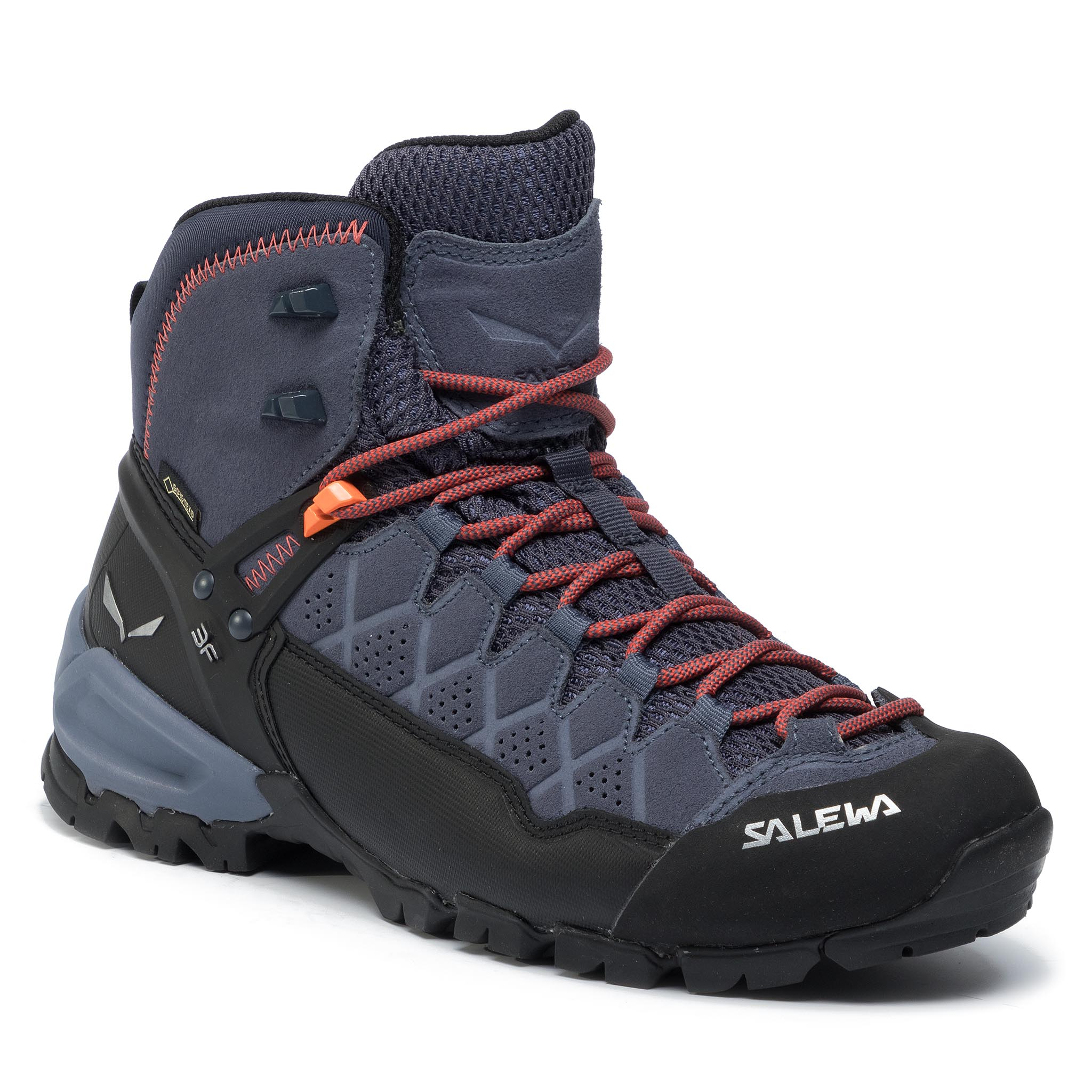 Trekkings Salewa - Alp Trainer Mid Gtx Gore-Tex 63432-3845 Ombre Blue/Fluo Orange imagine epantofi.ro 2021