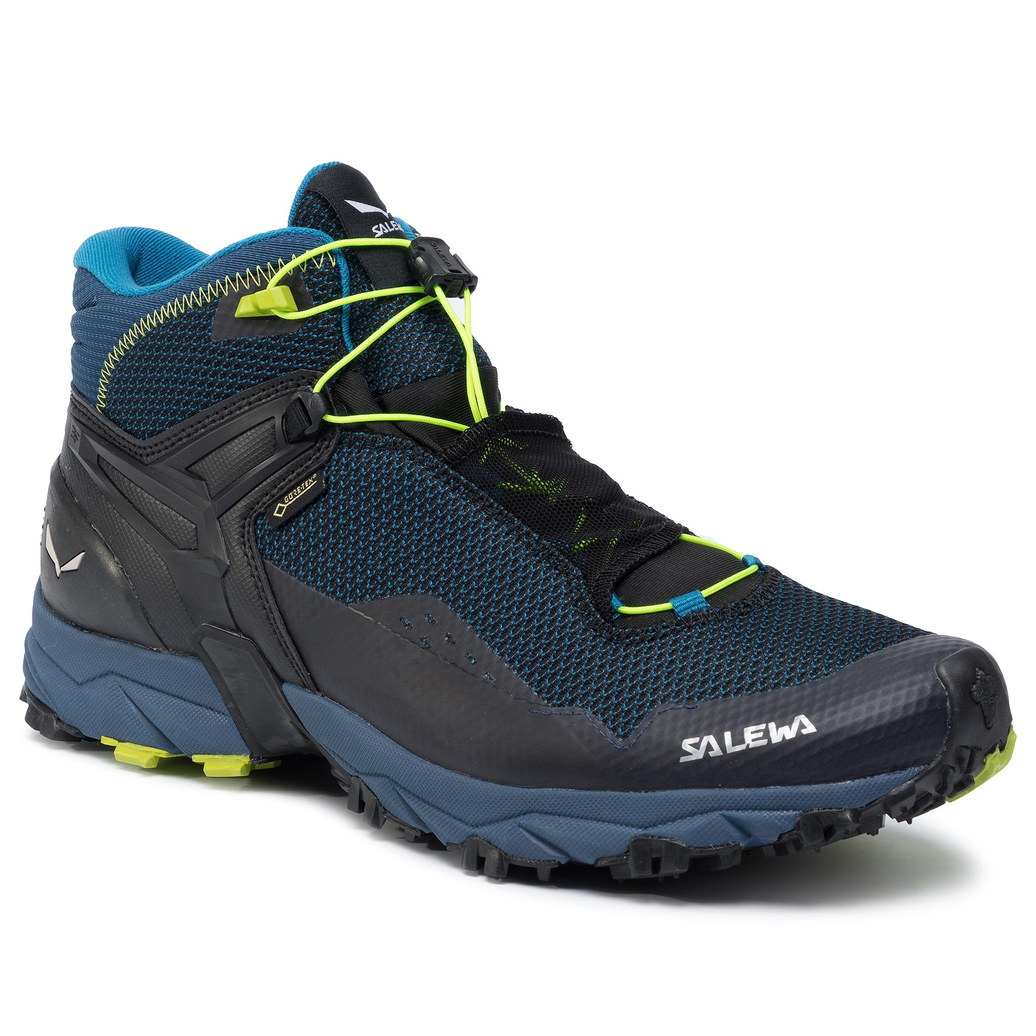 Trekkings SALEWA - Ms Ultra Flex Mid Gtx GORE-TEX 64416 8968 Poseidon/Fluo Yellow