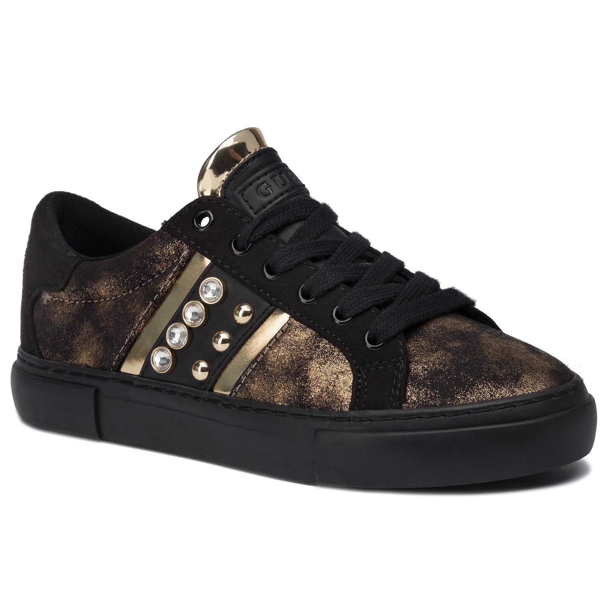 Sneakers GUESS - Glitzy2 FL8GL2 LEL12 GOLD/BLACK