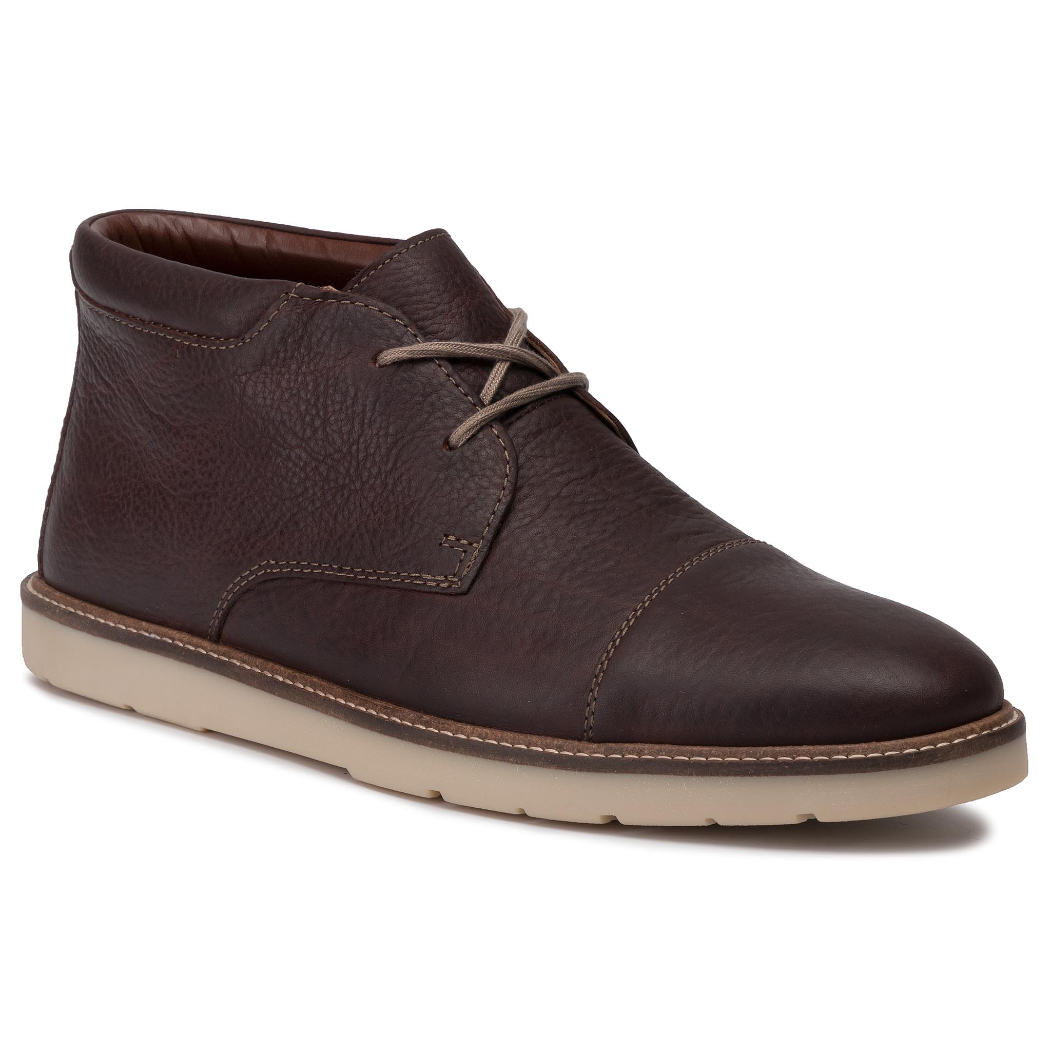 Ghete Clarks - Grandin Top 261463907 Dark Brown Tumbled imagine