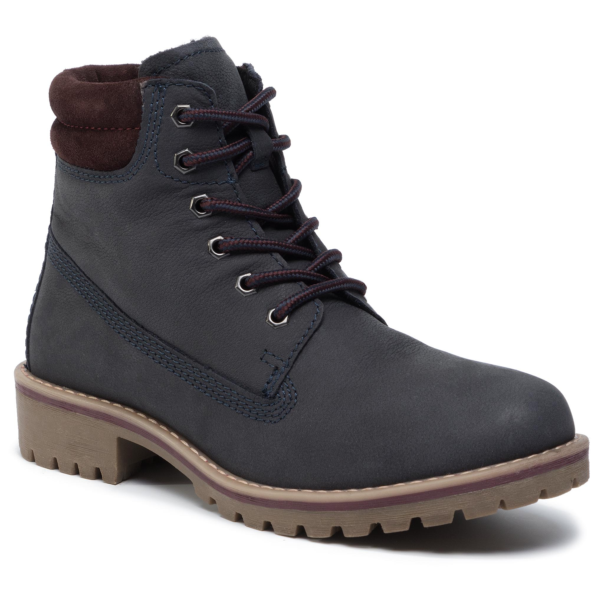Trappers MARCO TOZZI - 2-26248-33 Navy/Bordeaux 849