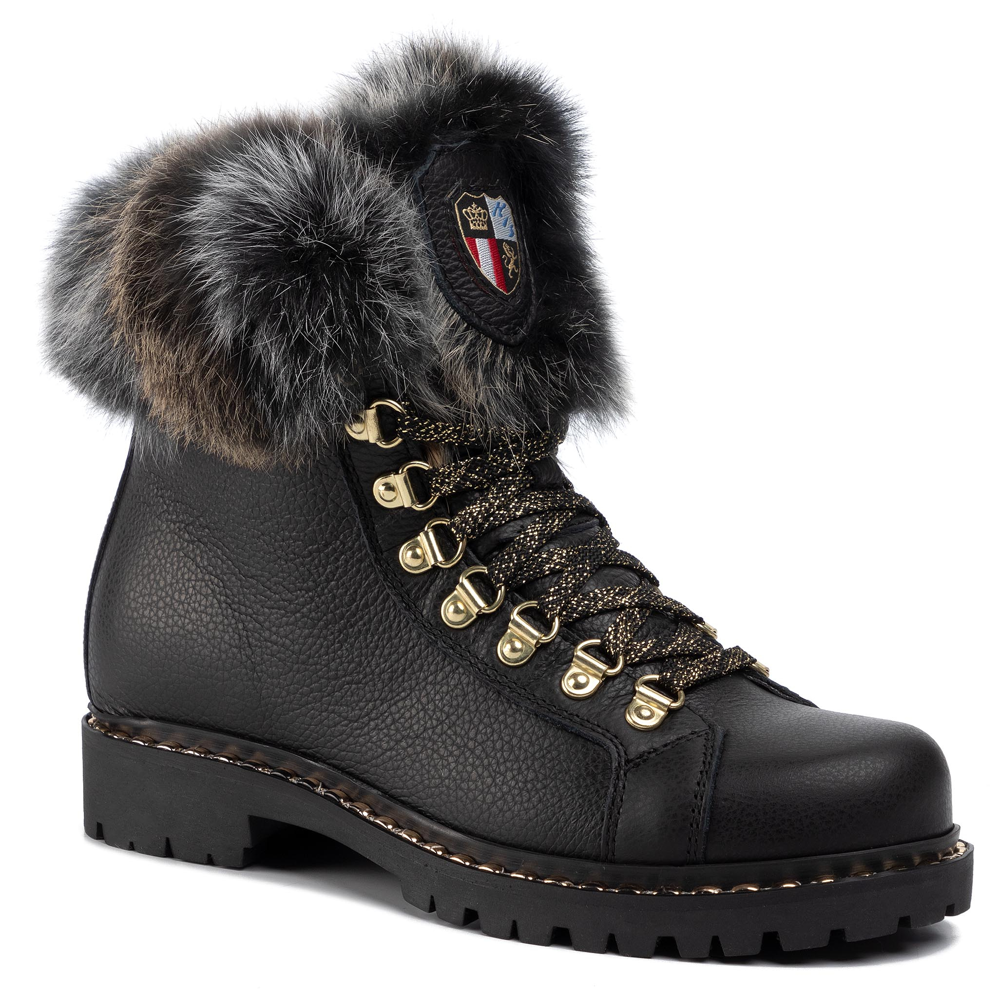 Trappers NEW ITALIA SHOES - 2015435A/12 Black